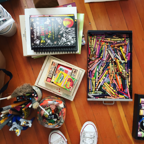 A peek at our decluttering project with Sunset's Creative Director