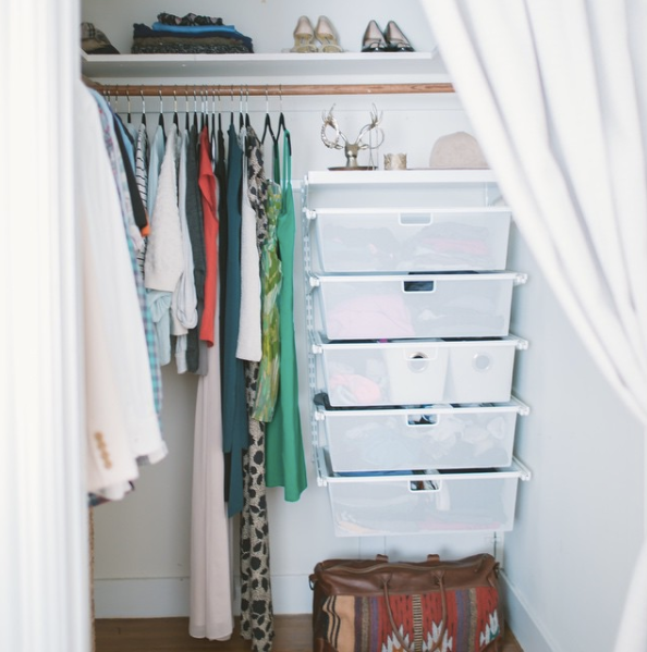 A peak inside my post-100 Things Challenge closet.