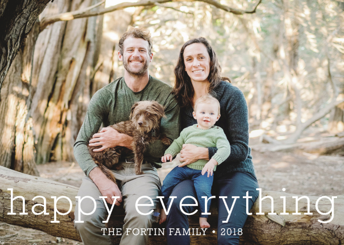 My family's holiday card this year. We really do wish you a happy everything!