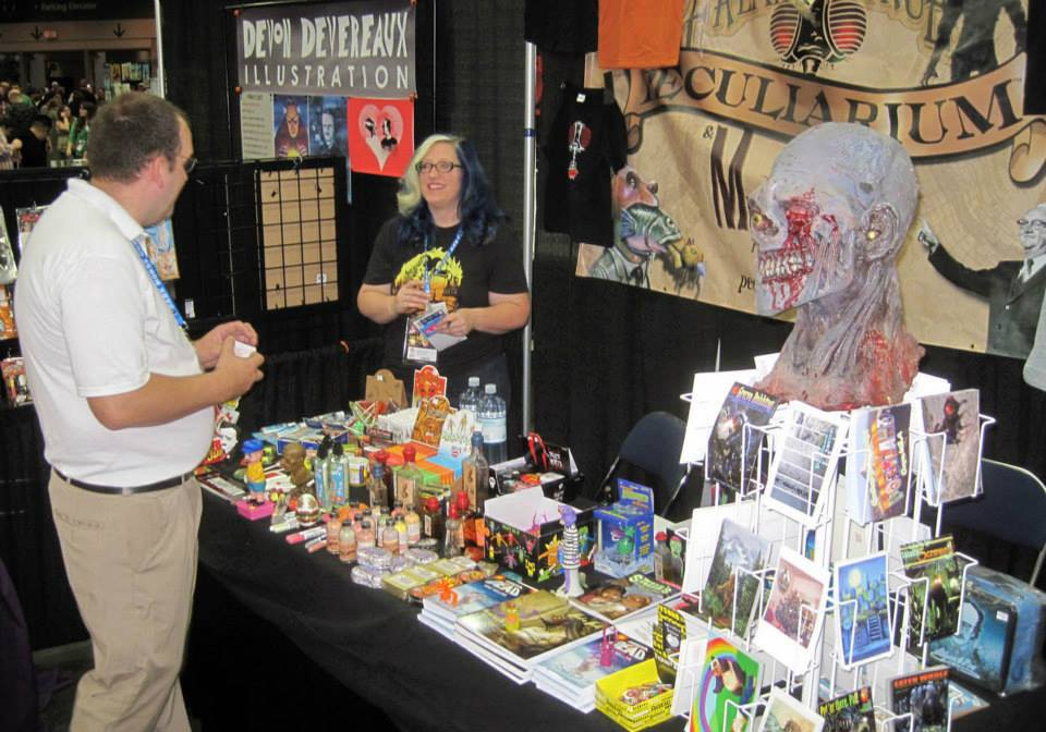 Our booth at Rose City Comic Con