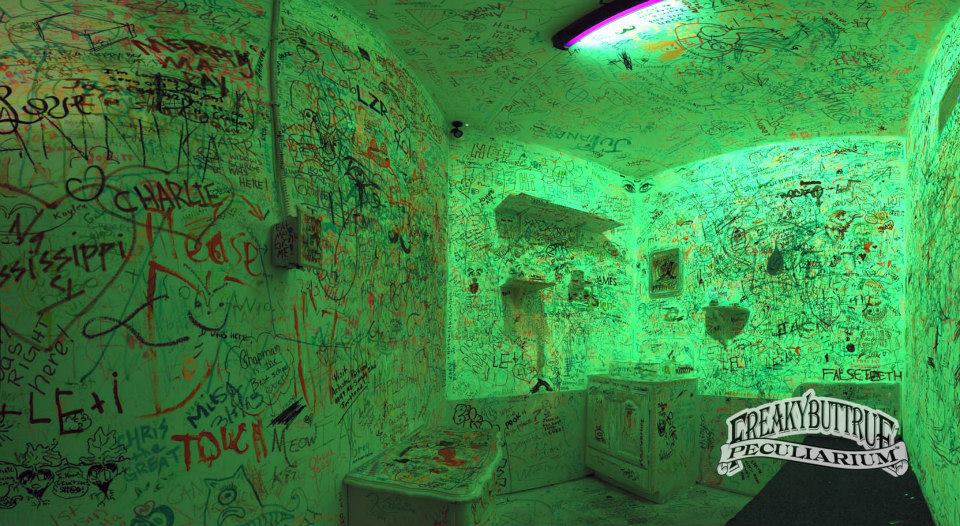 The last shot of the Glow in the Dark room, which will soon become a new exhibit. Patience... you have to wait...