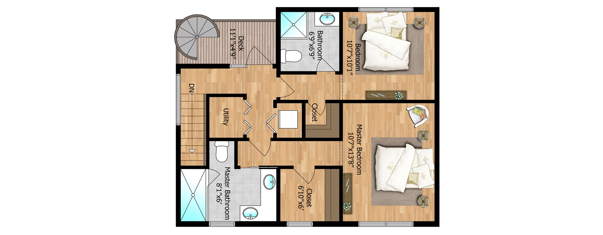 3rd Floor - Unit 2 Bedrooms