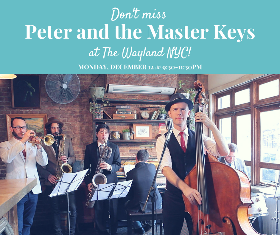 peter & the master keys play live jazz and blues at the wayland nyc every second monday of the month! The best jazz wedding band in new york city.