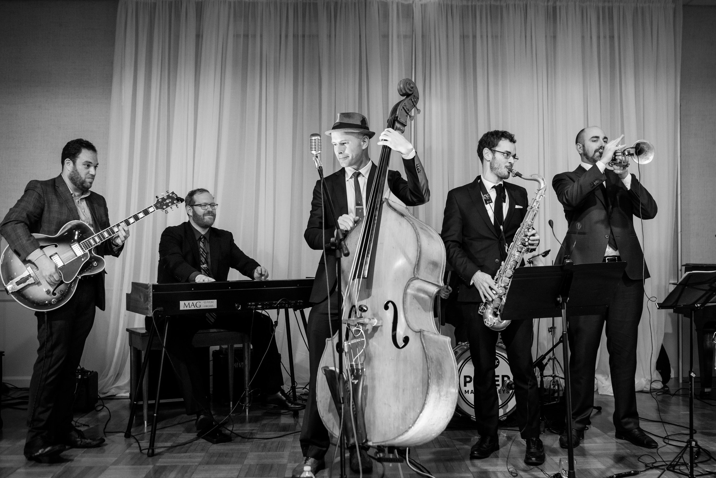 The Master Keys is more than a great jazz wedding band. We also play a ton of great old RnB for dancing.