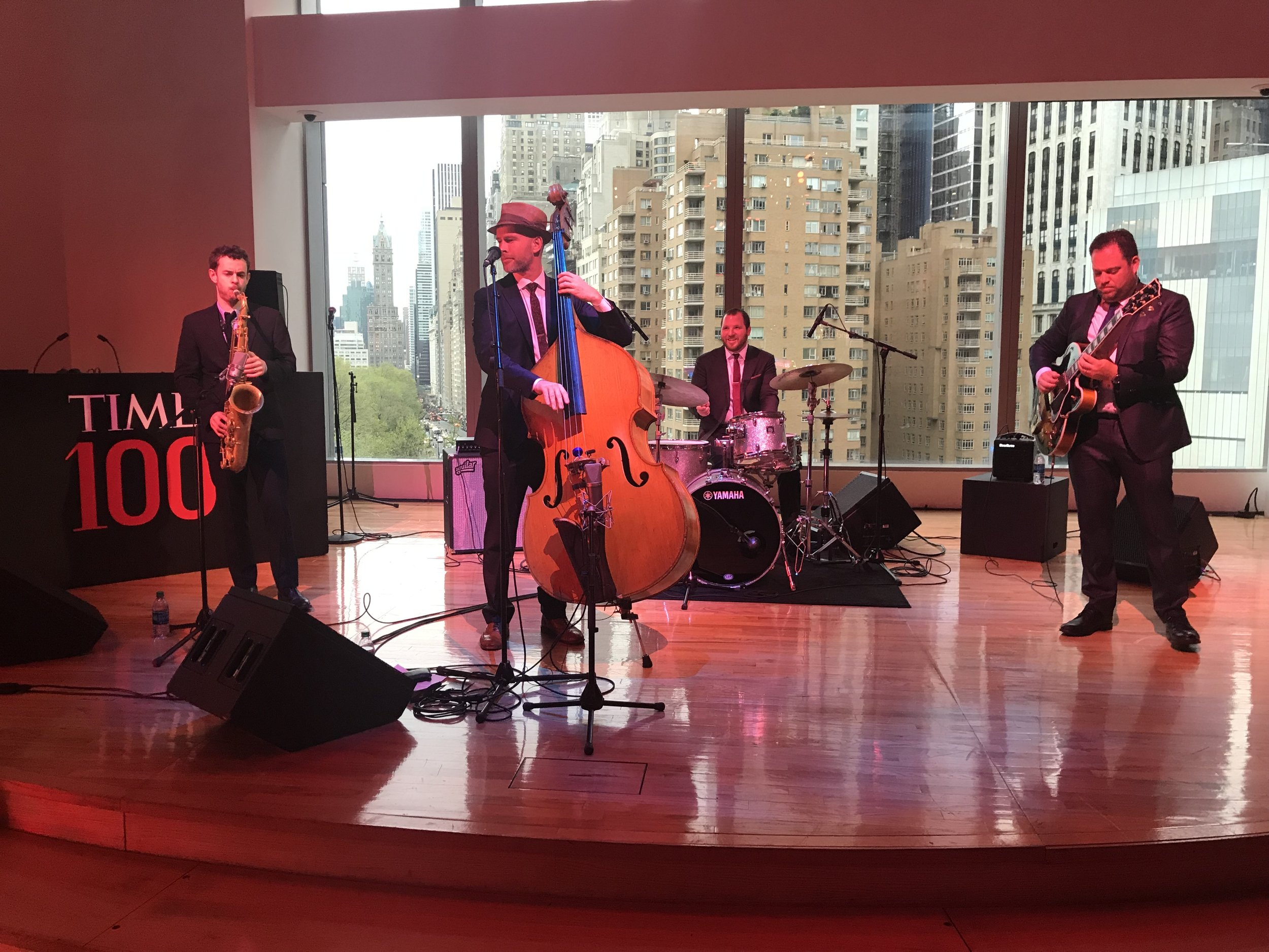 Peter & the Master Keys quartet perform at the TIME 100 gala at the Time Warner building
