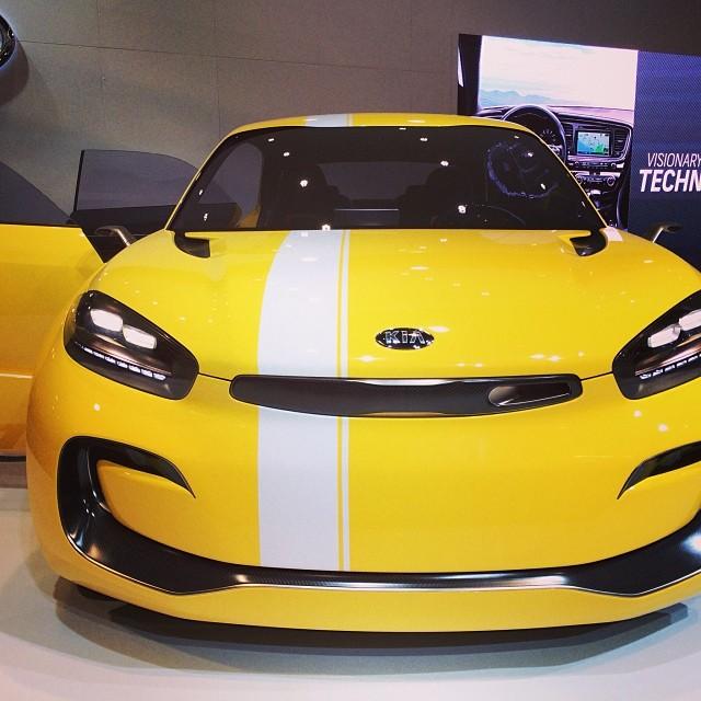 KIA Concept Car. Showing off it's mustache.