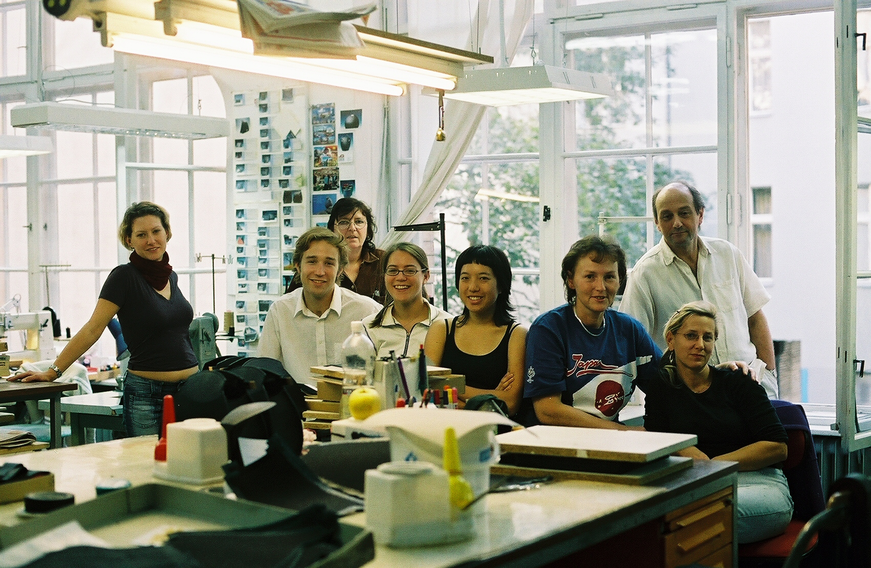 The Olbrish handbag workshop in Kreuzberg, Berlin, has been producing architecturally-inspired handbags since 1983. All parts of the business take place under one roof—office, product design, production, inventory, and distribution. It was a great place to work and learn.