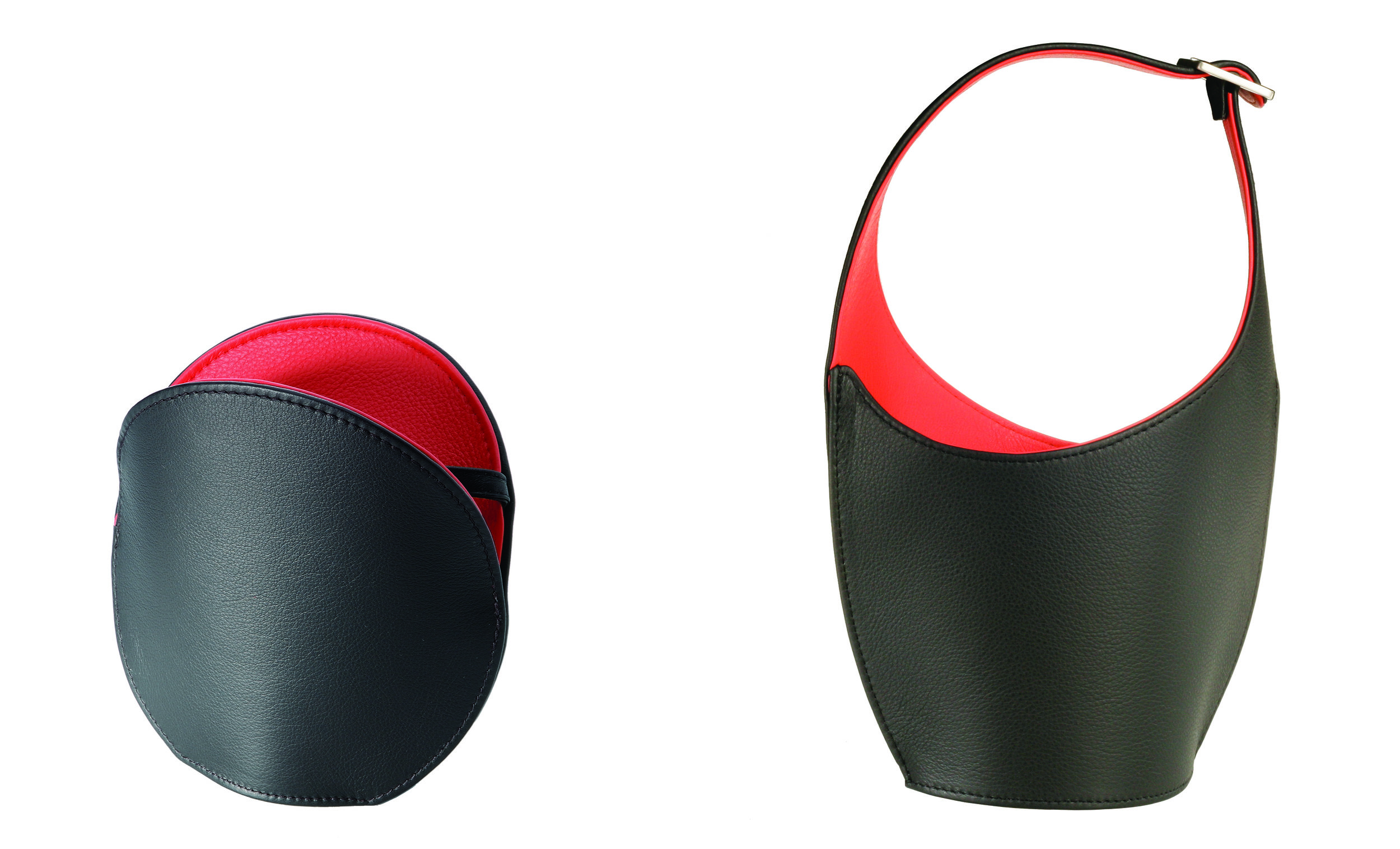 """Auster (Oyster), designed with Chris Turitzin, and Ei Tasche (""""Egg Basket""""), designed with Chris Turitzin and Joanna Madsen."""