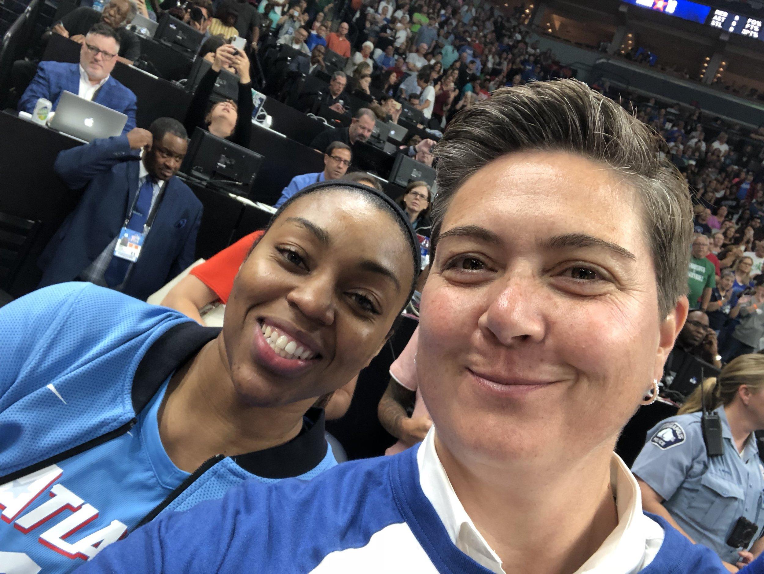 Renee Montgomery, Atlanta Dream (WNBA) with Author Shelly Boyum-Breen