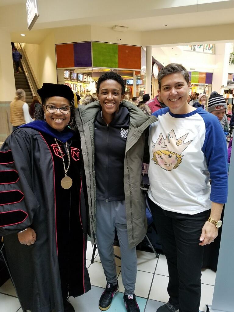 Joyce Ester, Normandale CC Pres., Danielle Robinson, Minnesota Lynx (WNBA), Author Shelly Boyum-Breen