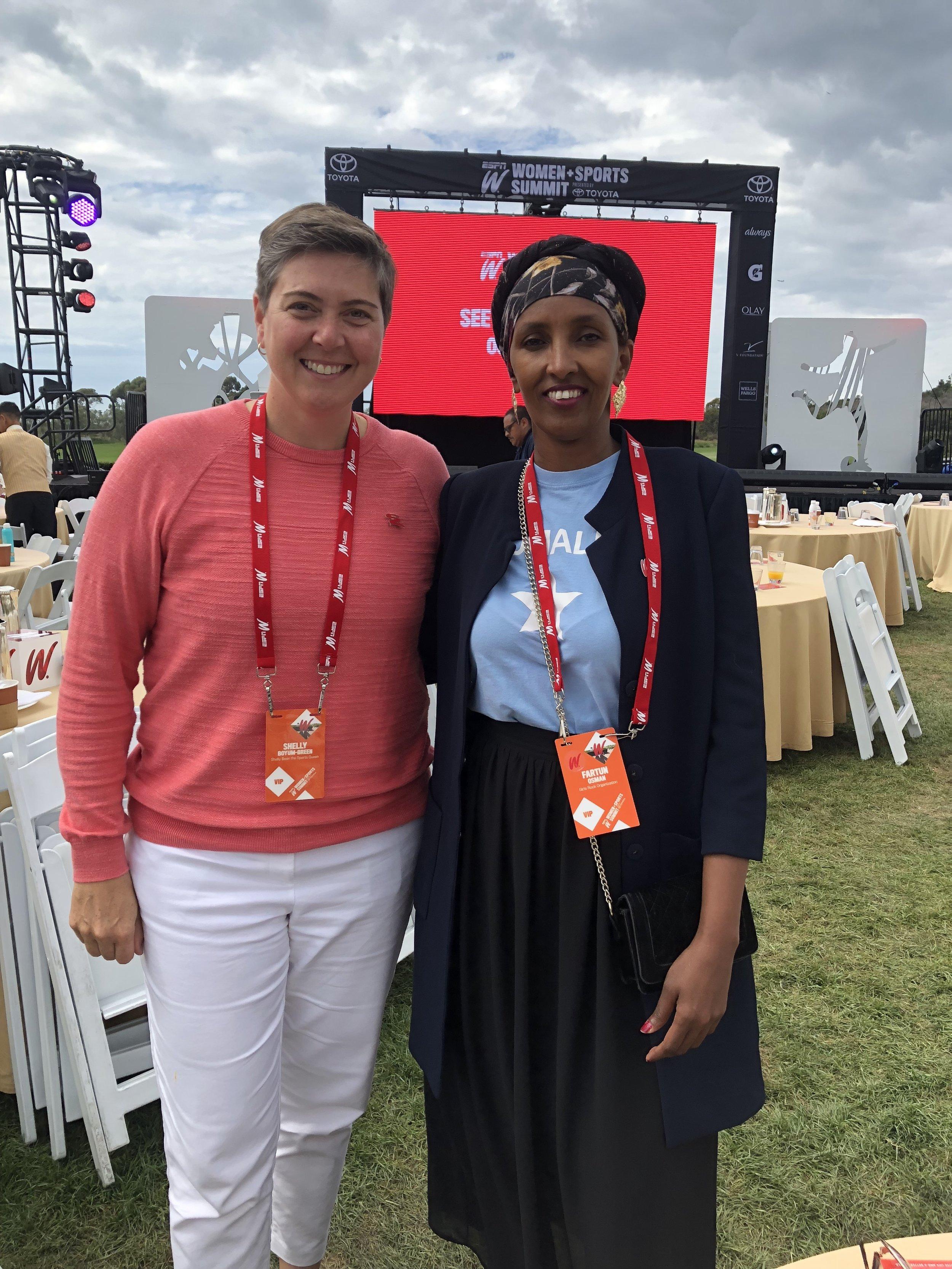 Author Shelly Boyum-Breen, Founder/CEO of Girls Rock Fartun Osman