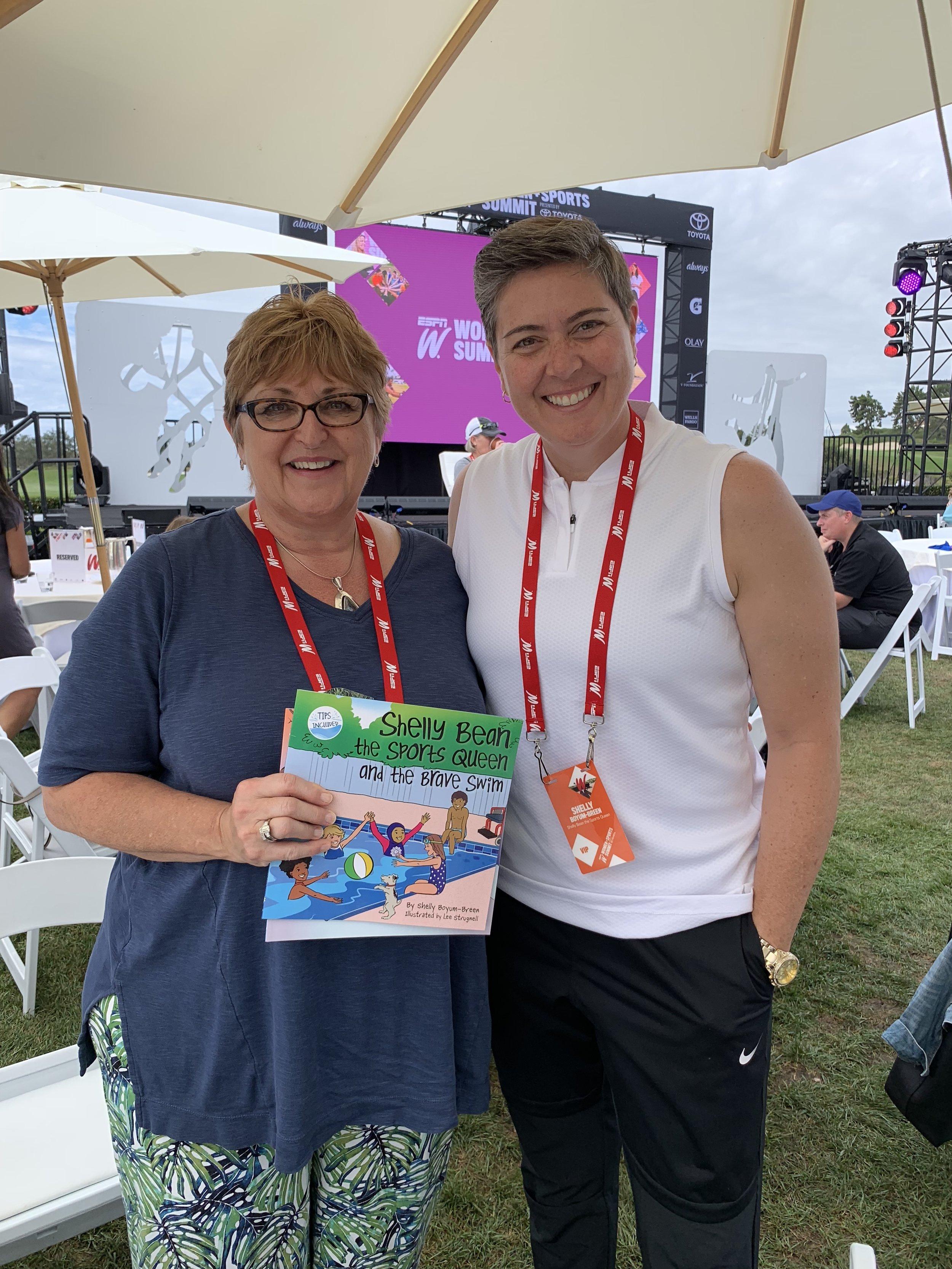 Susan Braun, CEO The V Foundation with Author Shelly Boyum-Breen