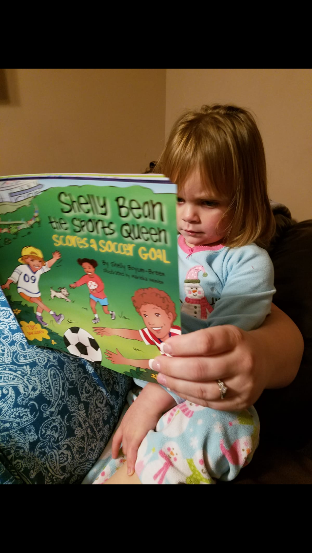 """""""We normally have a difficult time getting our active 2 y/o to sit still through an entire book. We bought 5 Shelly Bean books now and Madison actually asks to read! It's so cool!"""" - ~Maddison's Parent"""