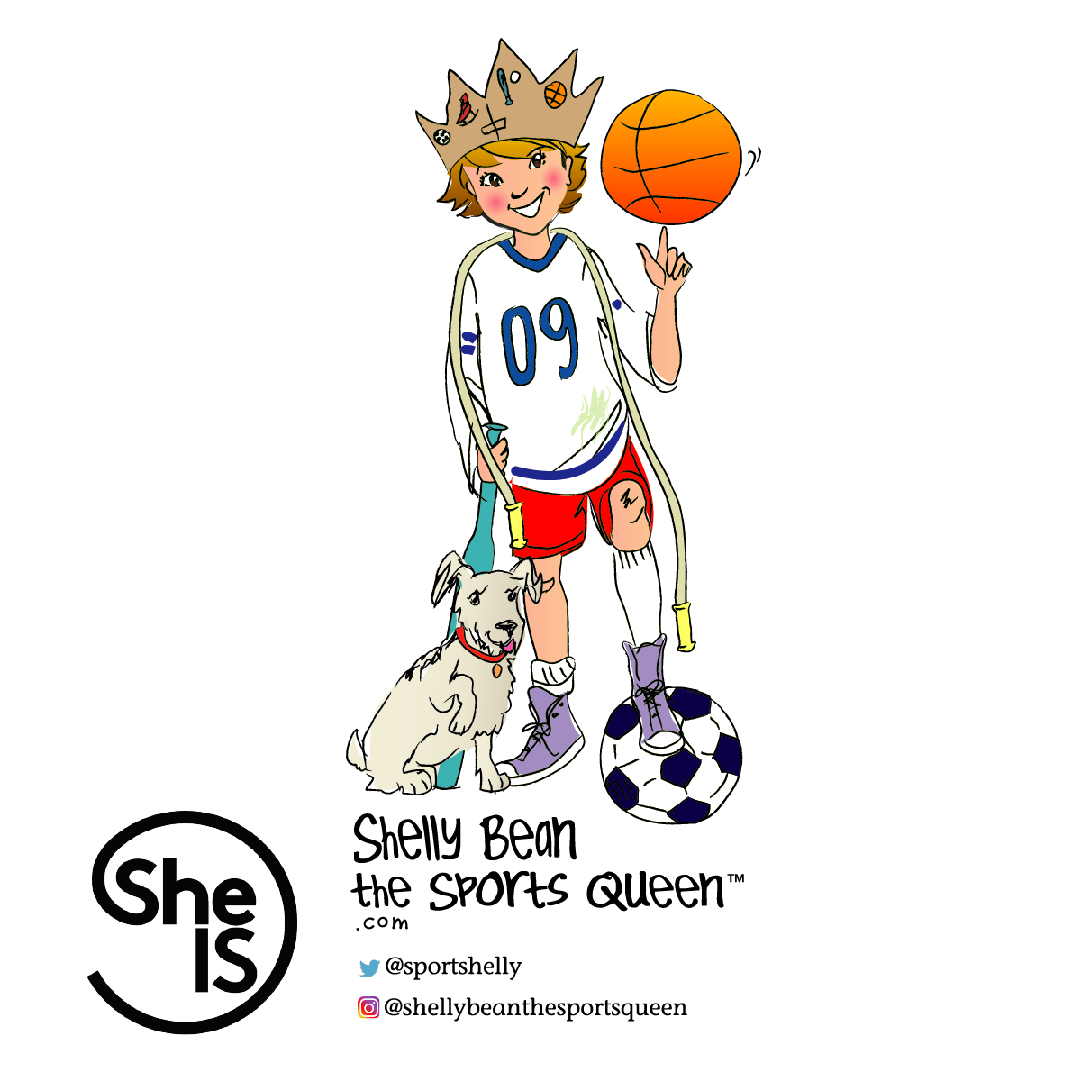 August 1, 2019 - New York, NY - SheIS and Shelly Bean the Sports Queen announce an exciting partnership!  See the blog for details.