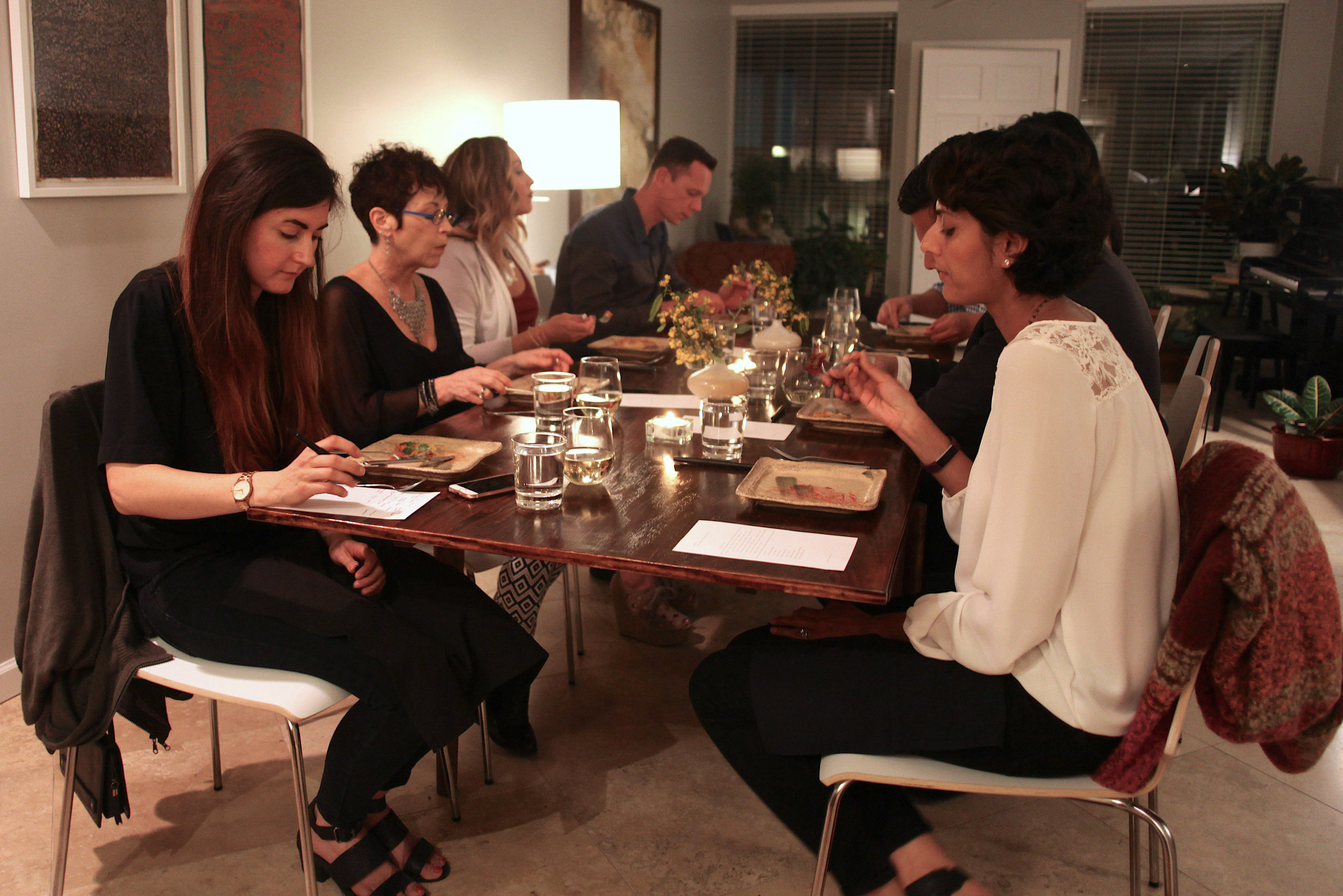 savor dining event in private home, 8 guests
