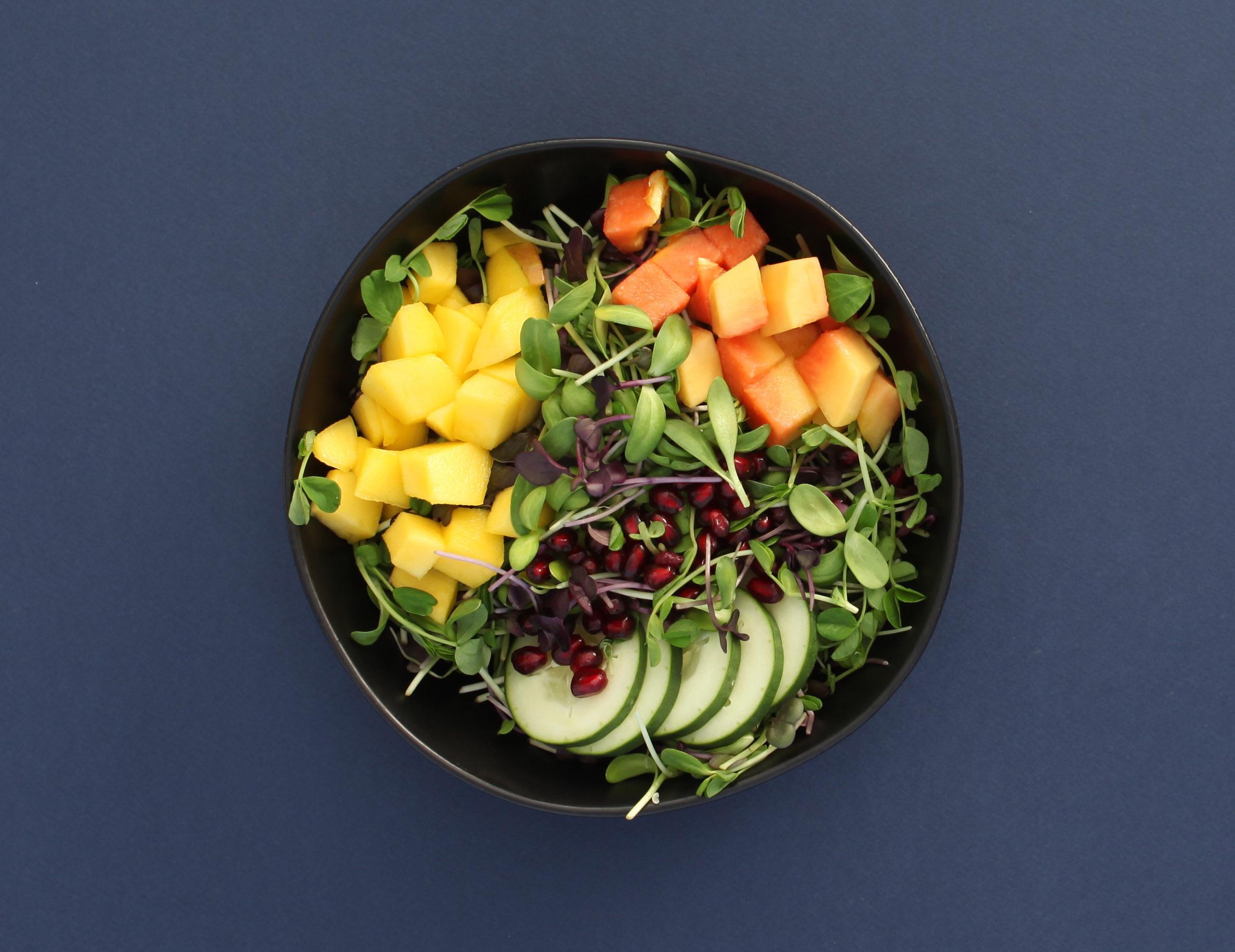 Micro Salad with Mango Papaya and Cucumber.JPG