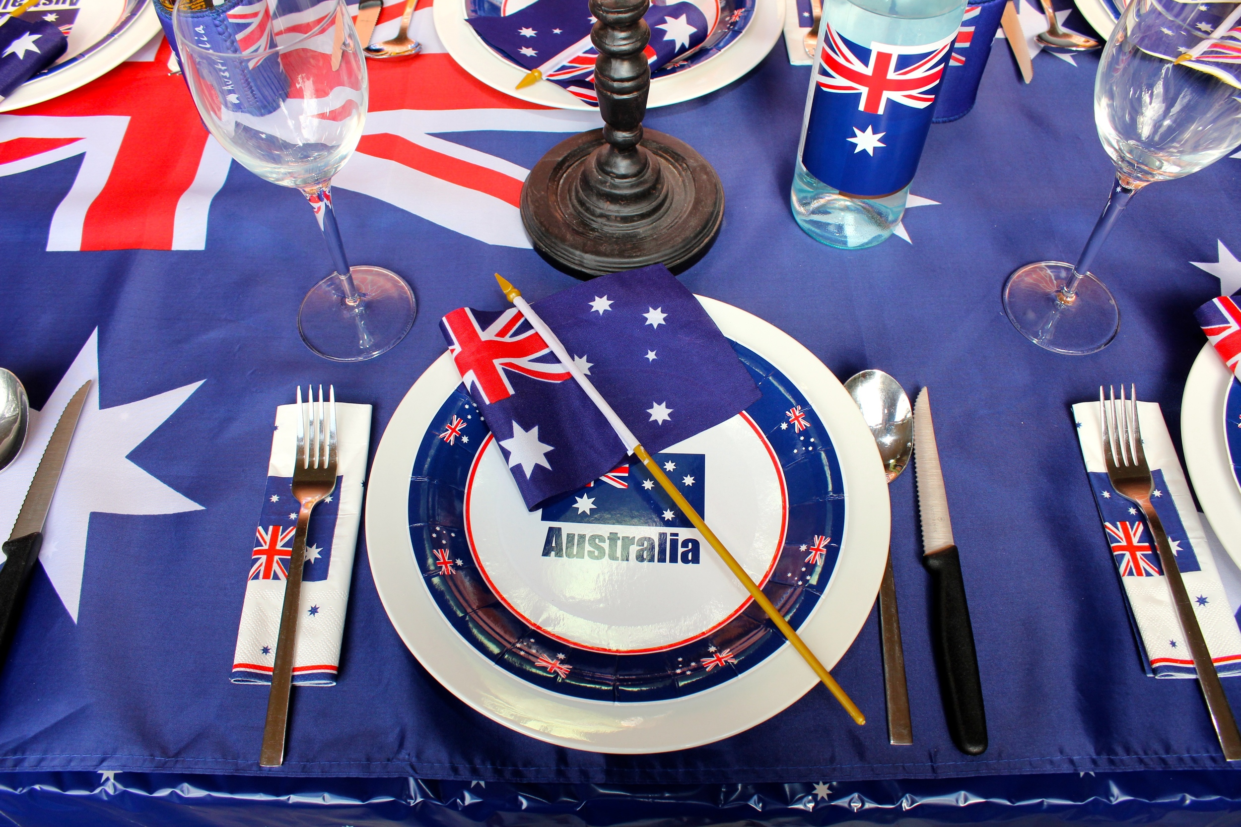 Australia Day Place Settings