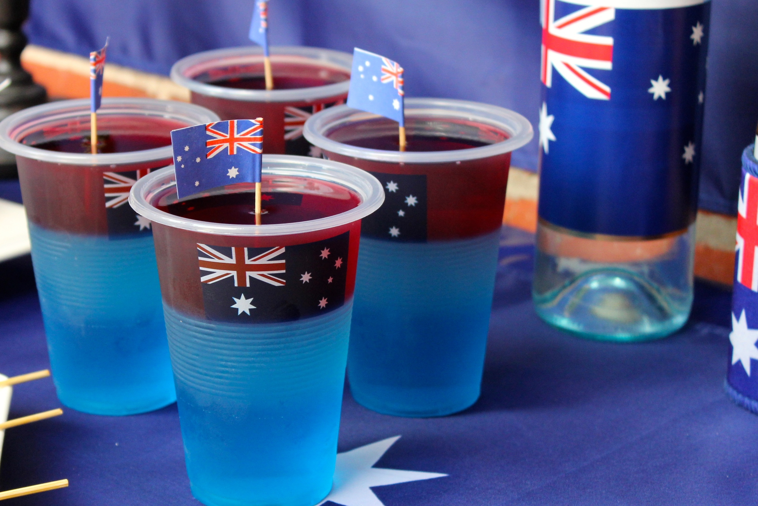 Australia Day - Layered Jelly Cups