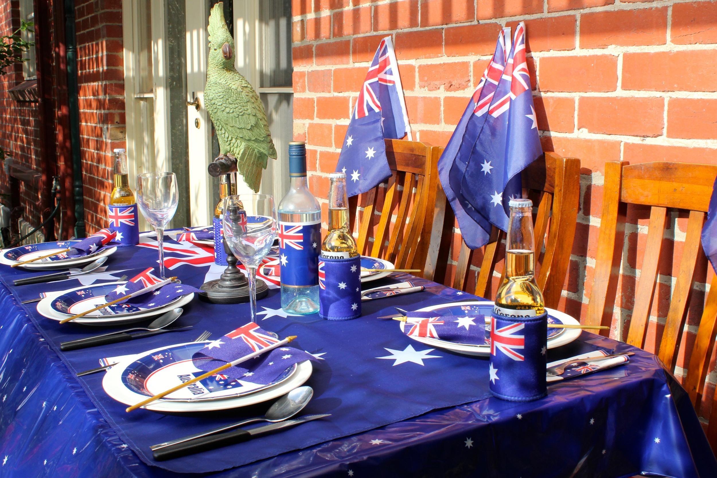 Australia Day Dining Setting
