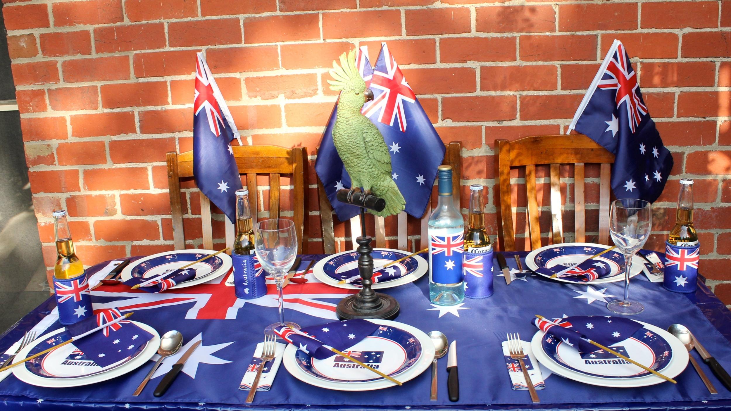 Australia Day Table Setting