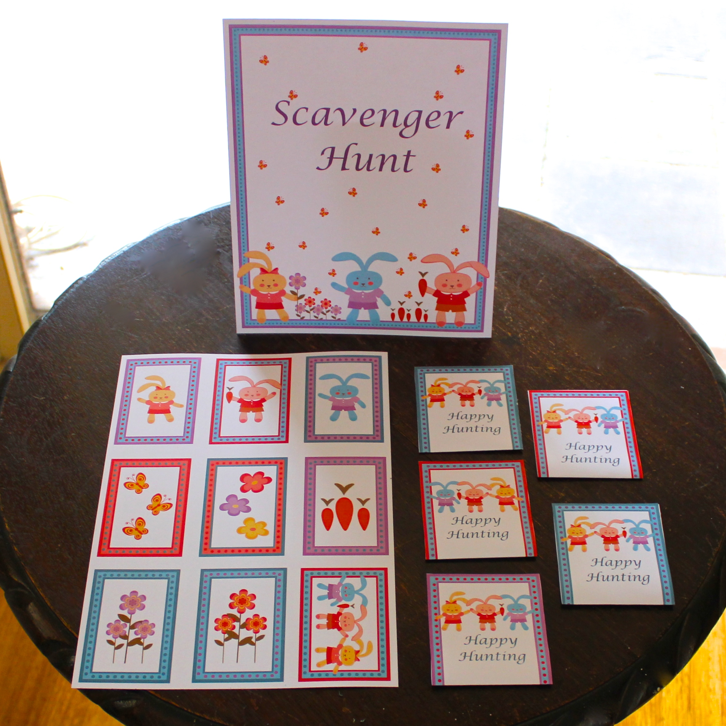 Bunny Party - Scavenger Hunt Game