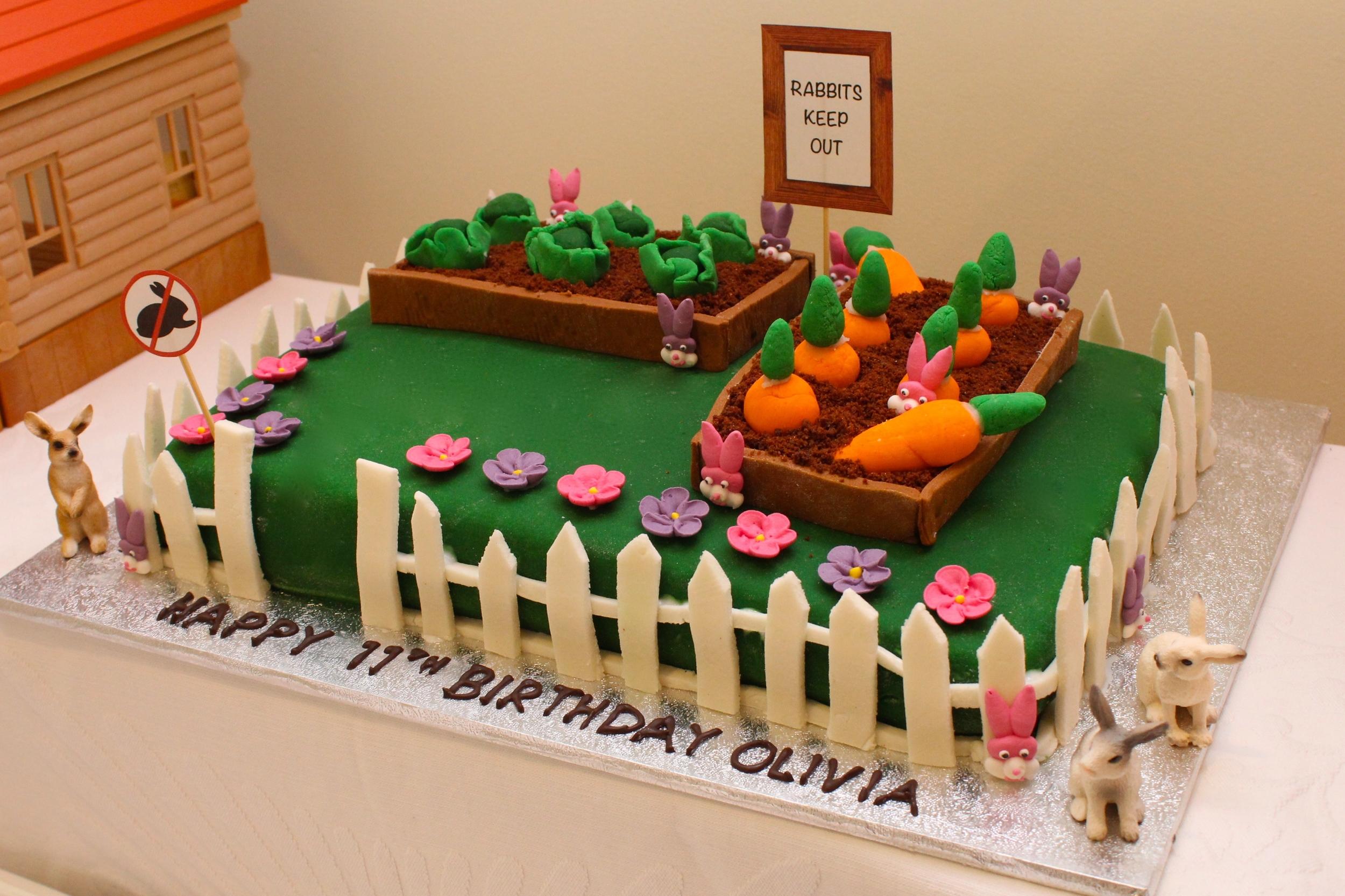 bunny party - Vegetable Garden Cake
