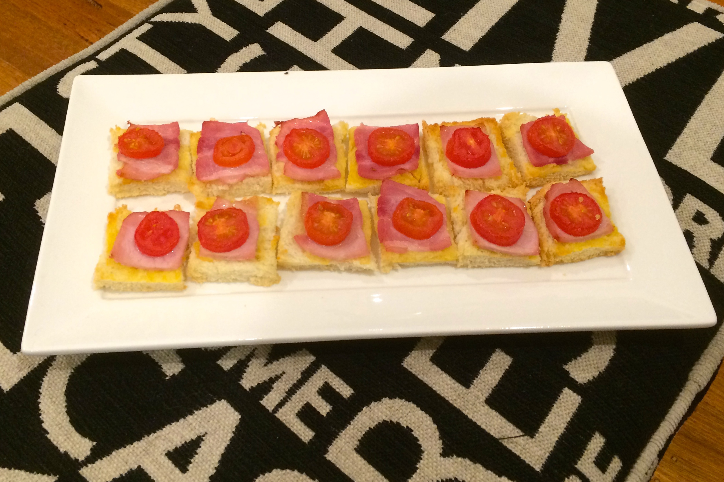 Bacon and Tomato Squares