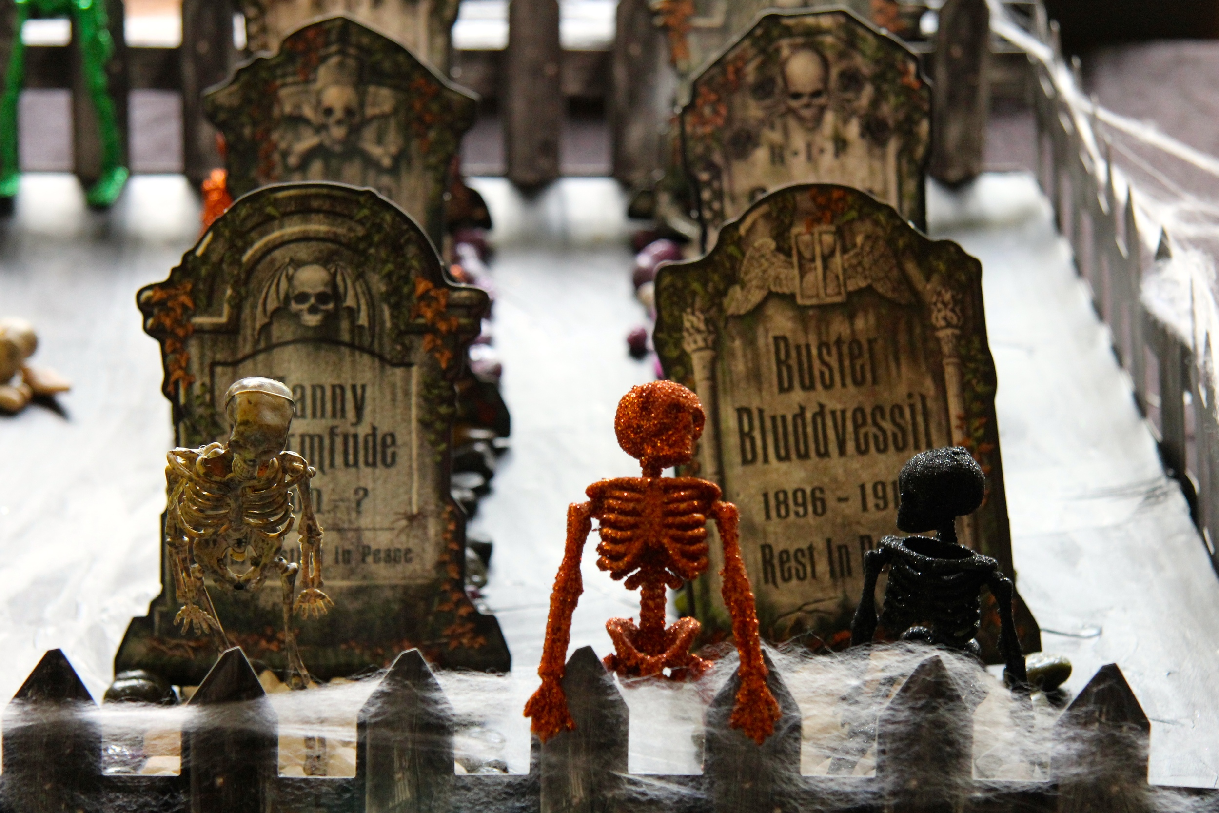 Halloween Graveyard - The skeleton's have raised from the grave