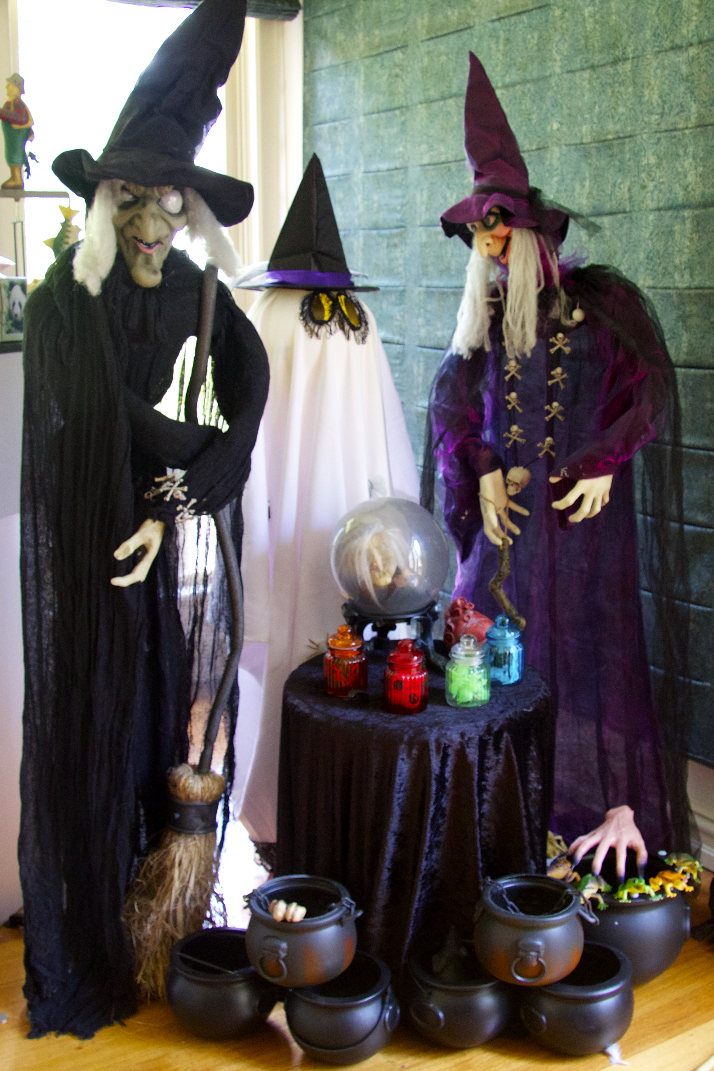 Halloween witches and Ghost