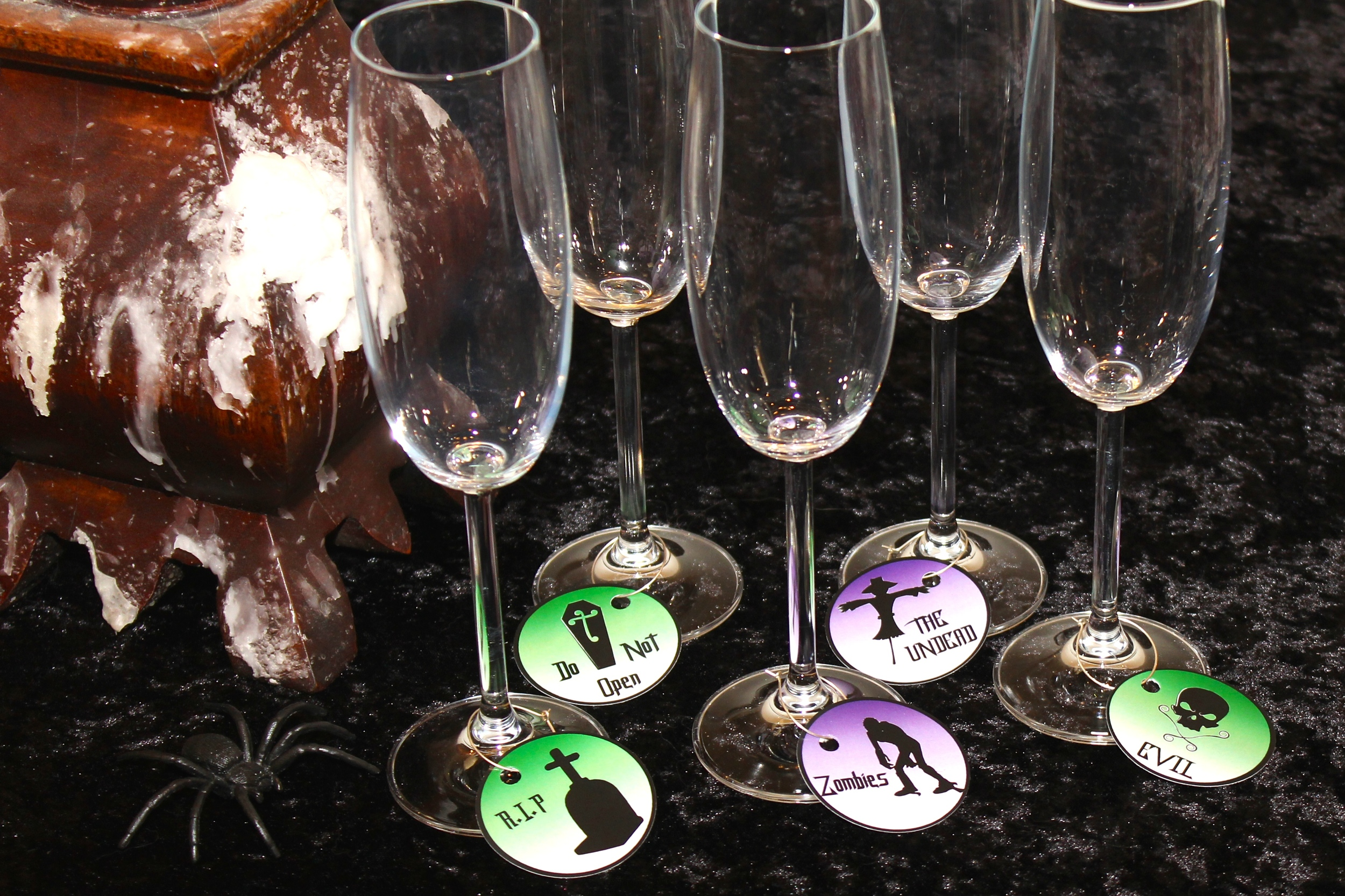 Halloween Champagne or wine glass names