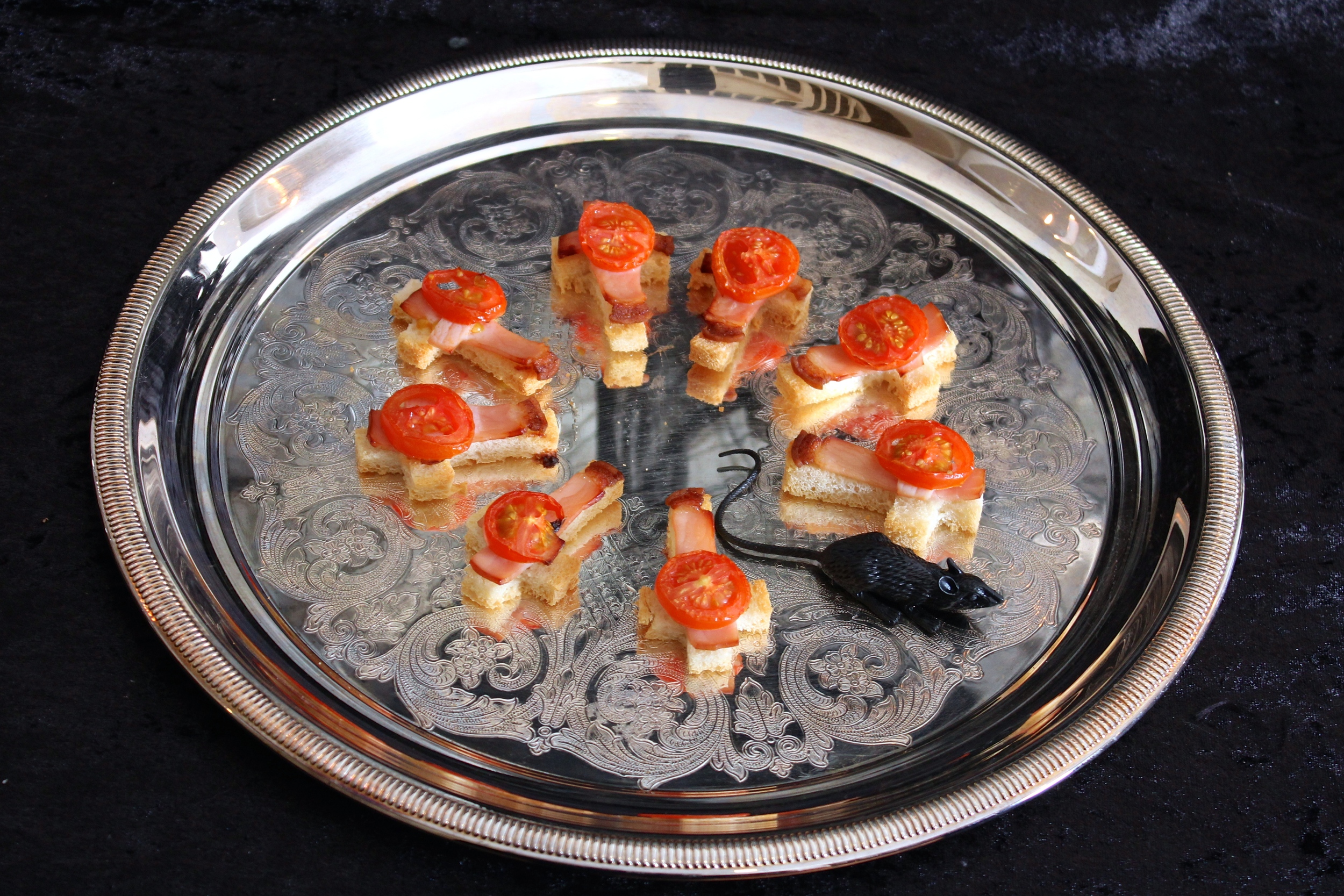 Gothic Dinner Party Toasted Bacon and Tomato
