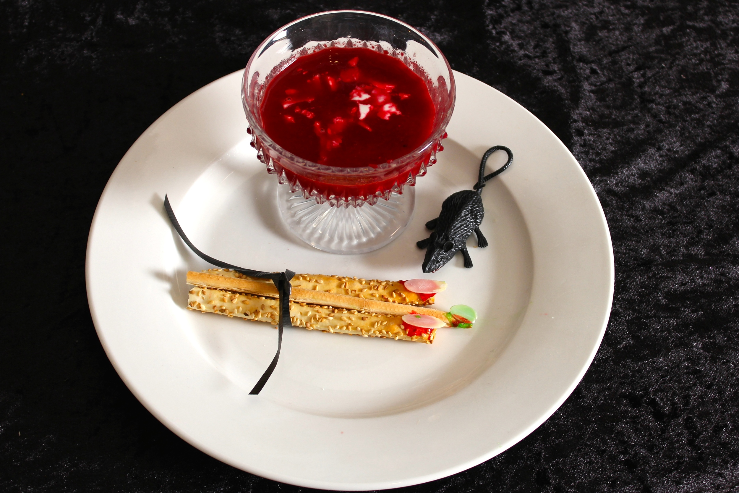 Gothic Dinner Party - Borscht with Italian Bread Sticks