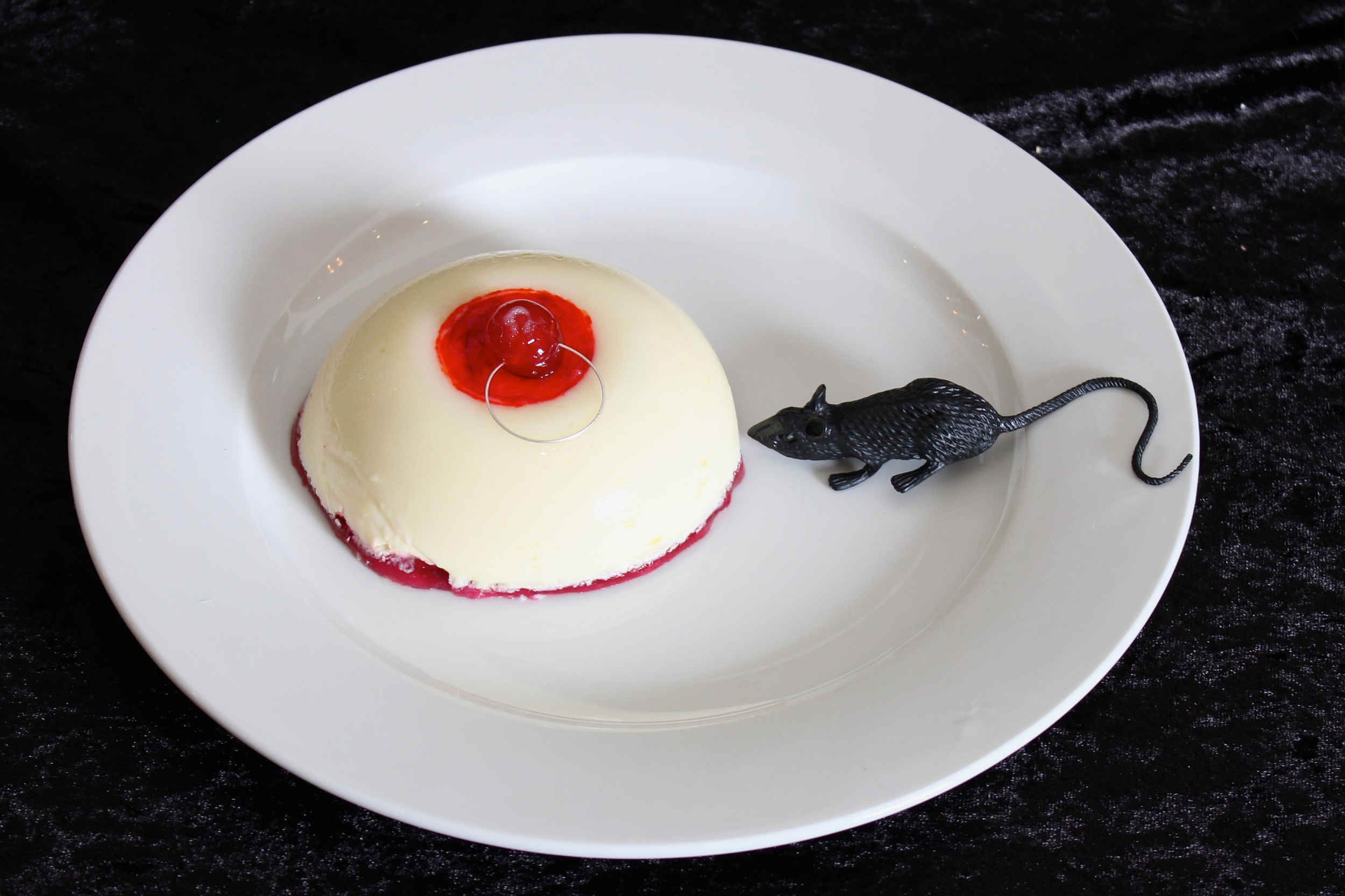 Gothic Dinner Party - Rosewater Panna Cotta