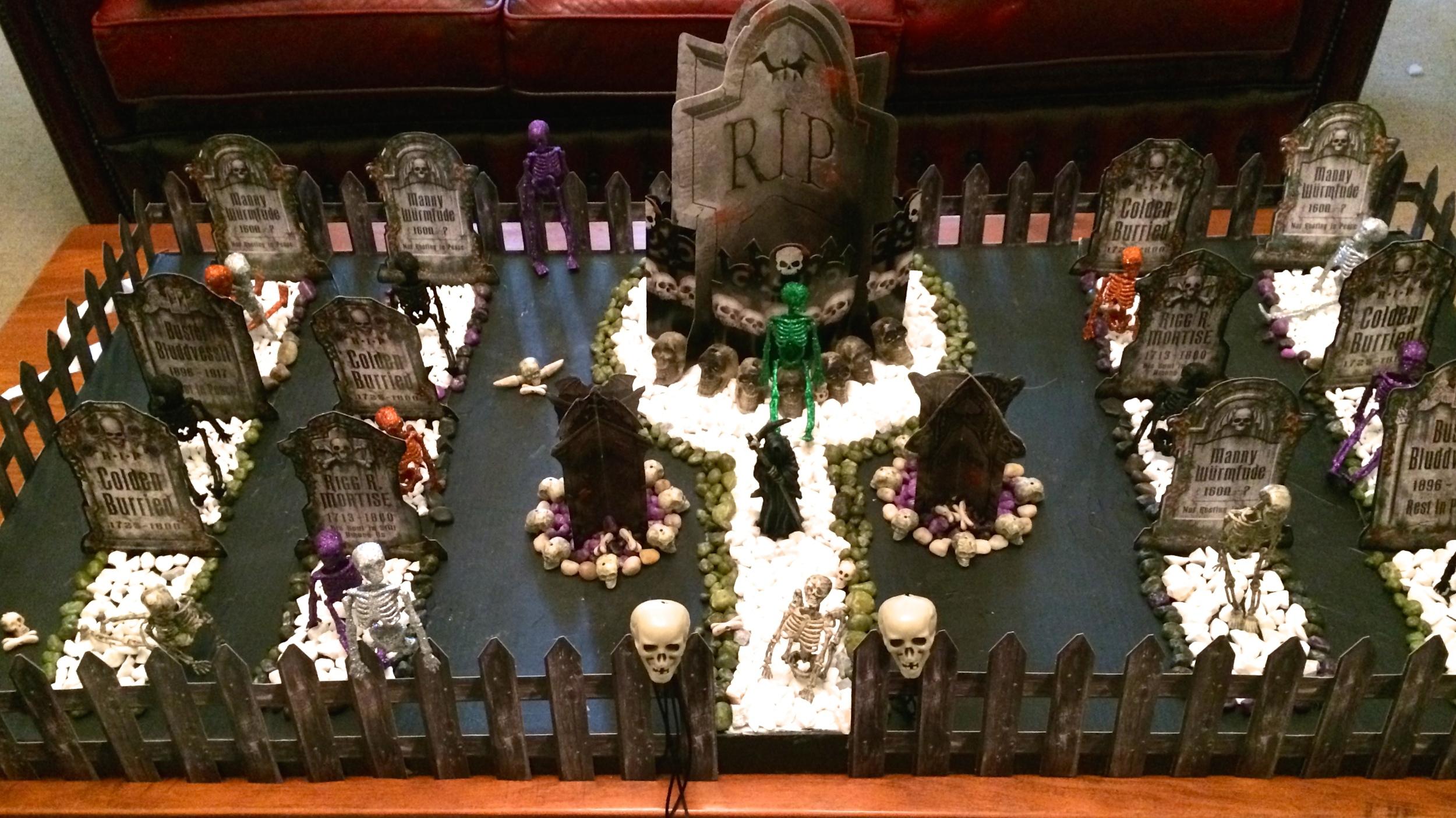 Halloween Graveyard Tutotial
