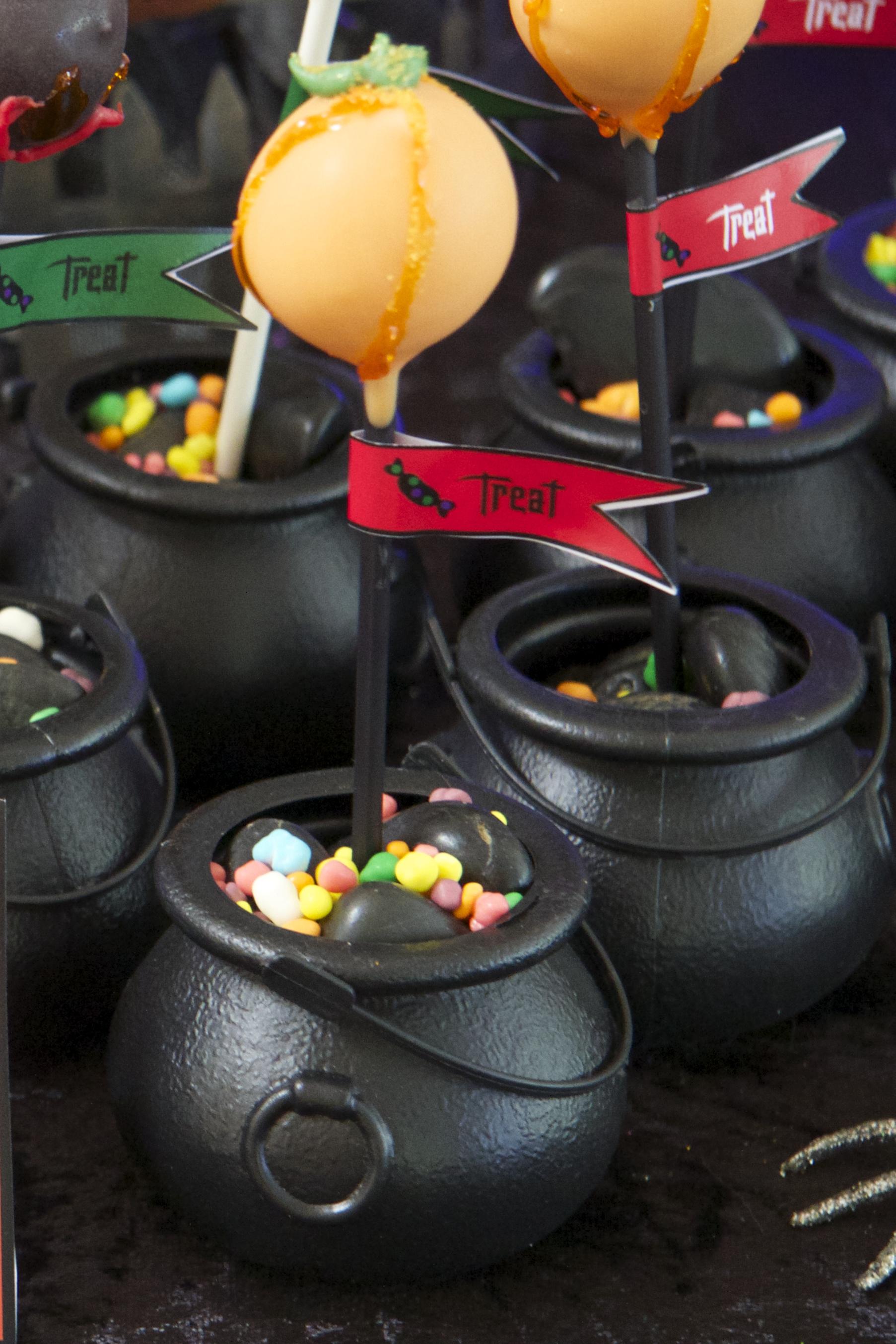 Halloween Cauldron Cake Pop Stands