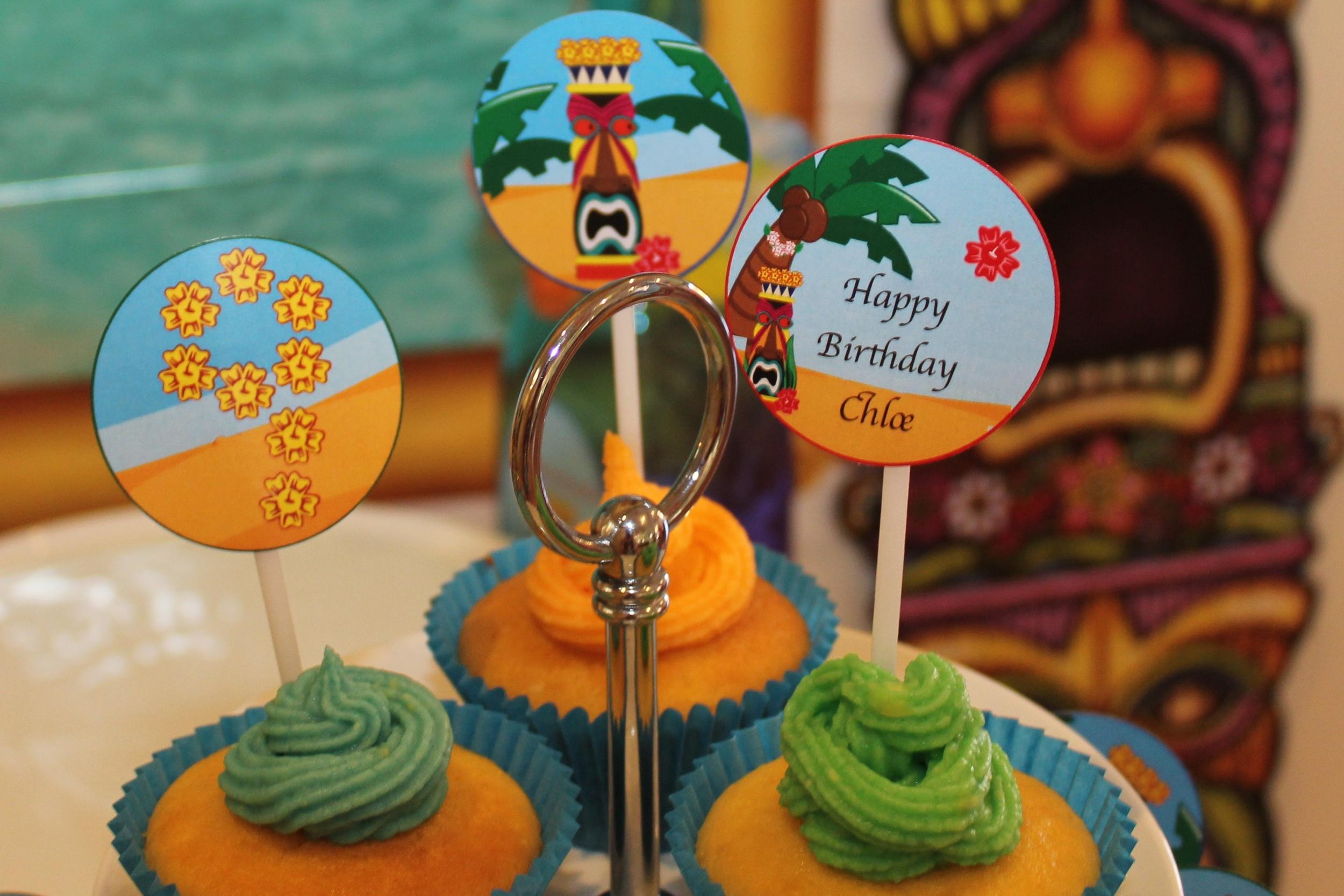 Hawaiian Luau Cup Cakes