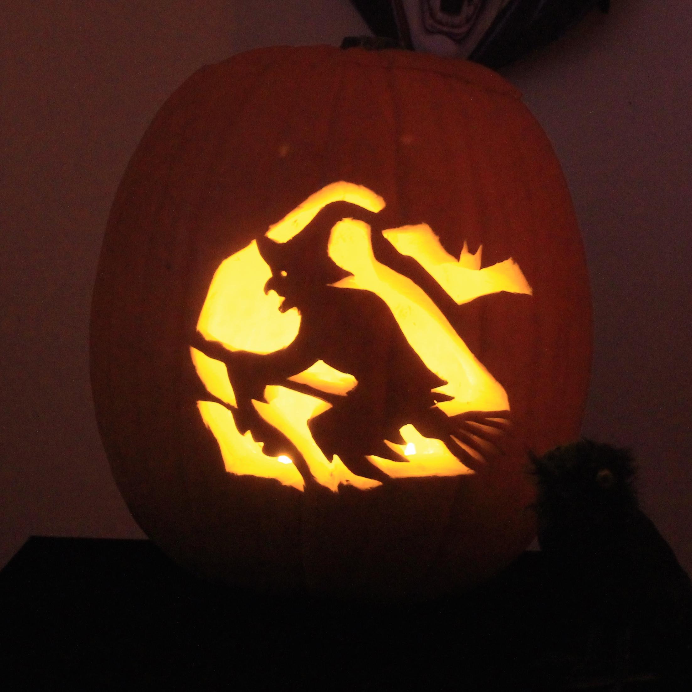 Halloween Witch Jack O'Lantern