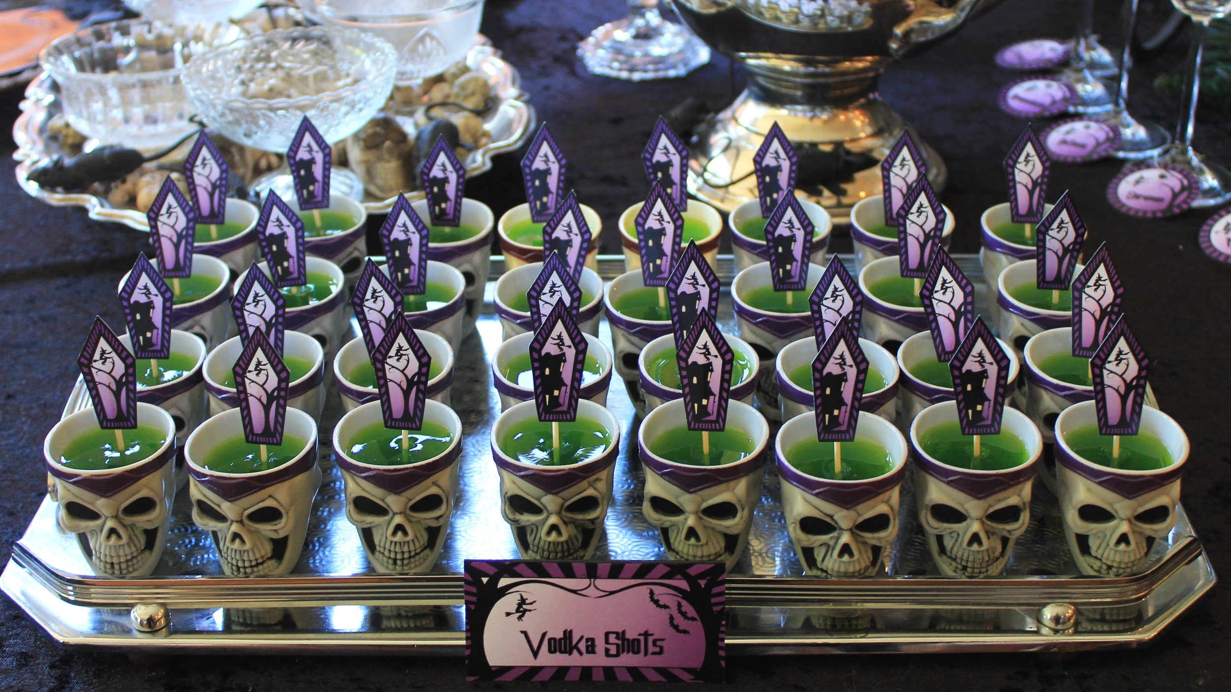 Halloween Vodka Jelly Shots
