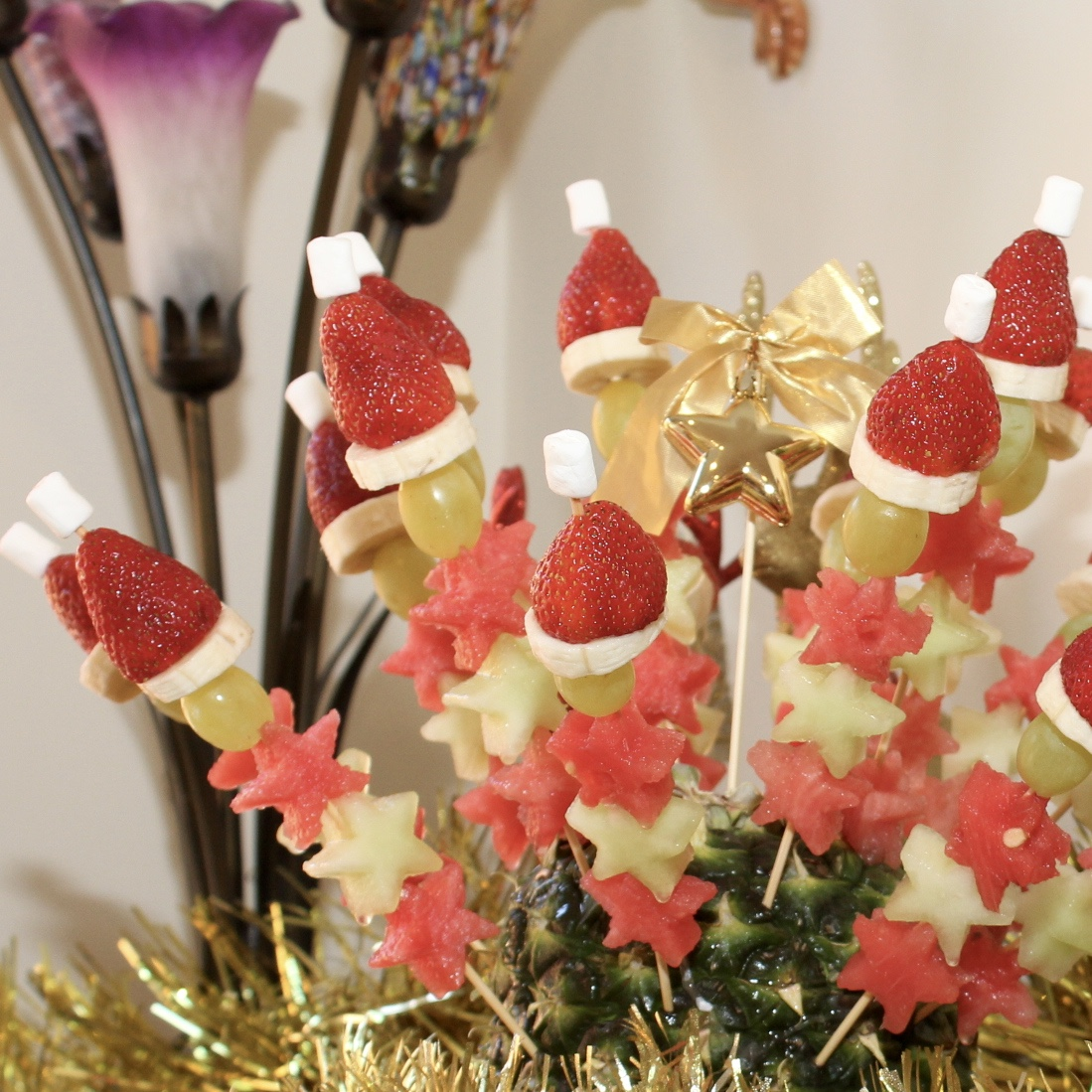 Christmas Fruit Skewer