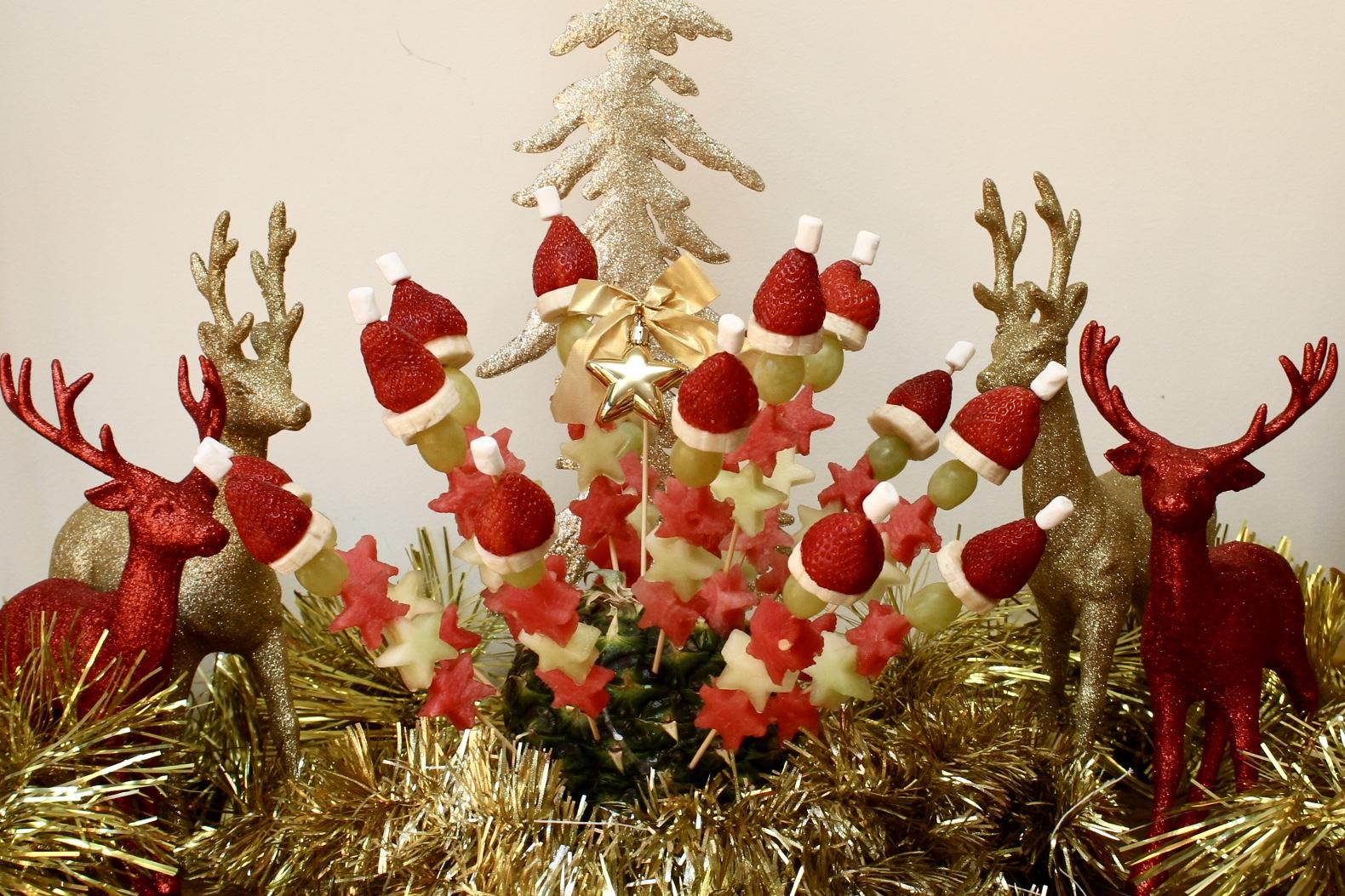 Christmas Fruit Skewers