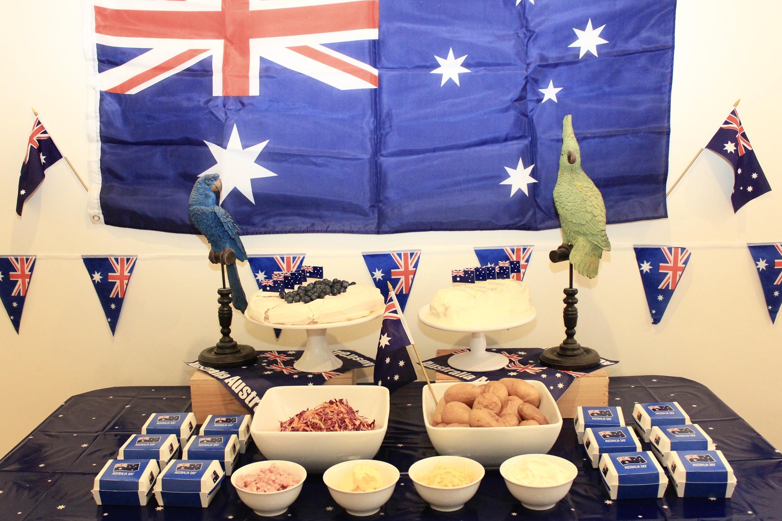 Australia Day Baked Potato Bar
