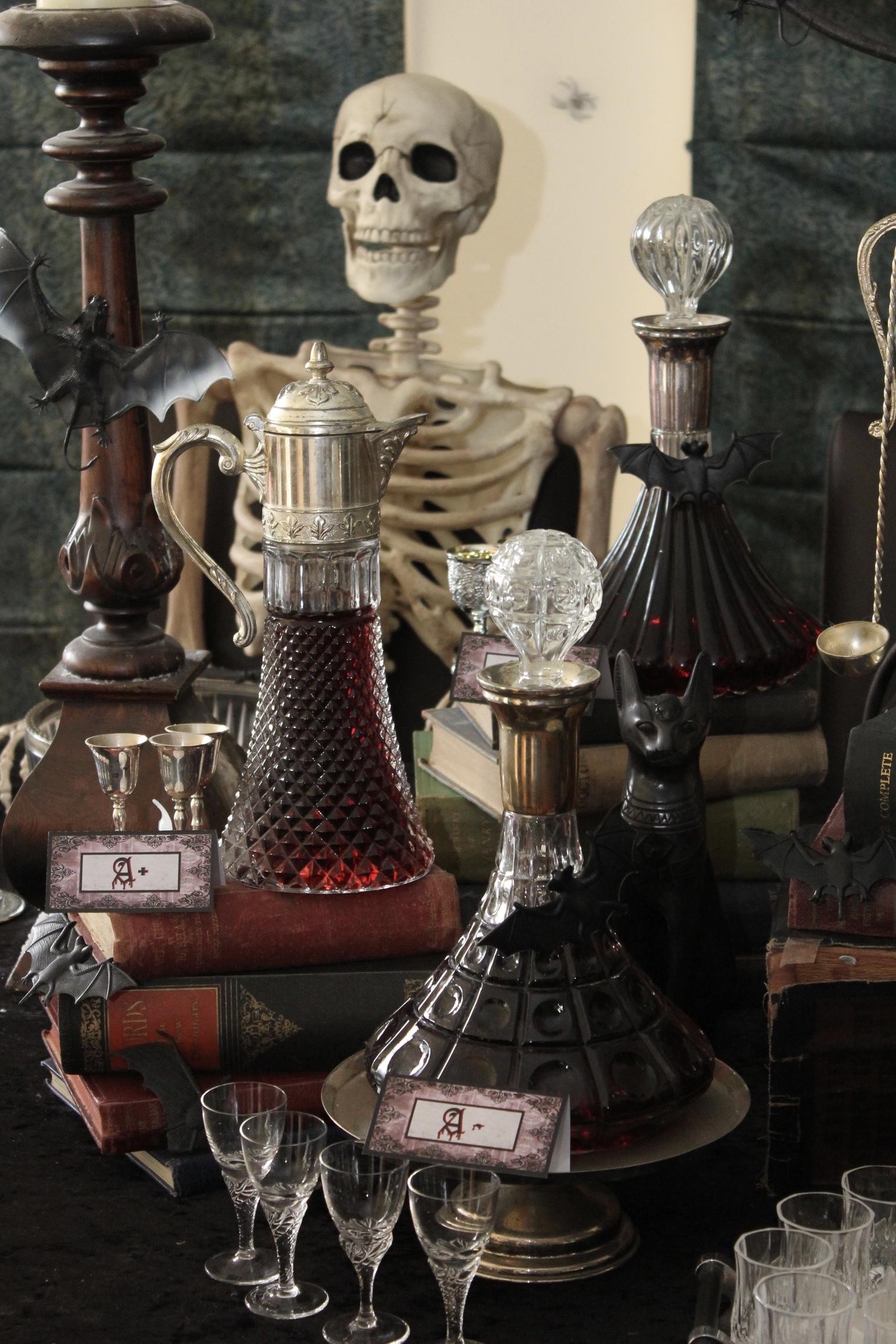 Halloween Vampire Table Decorations