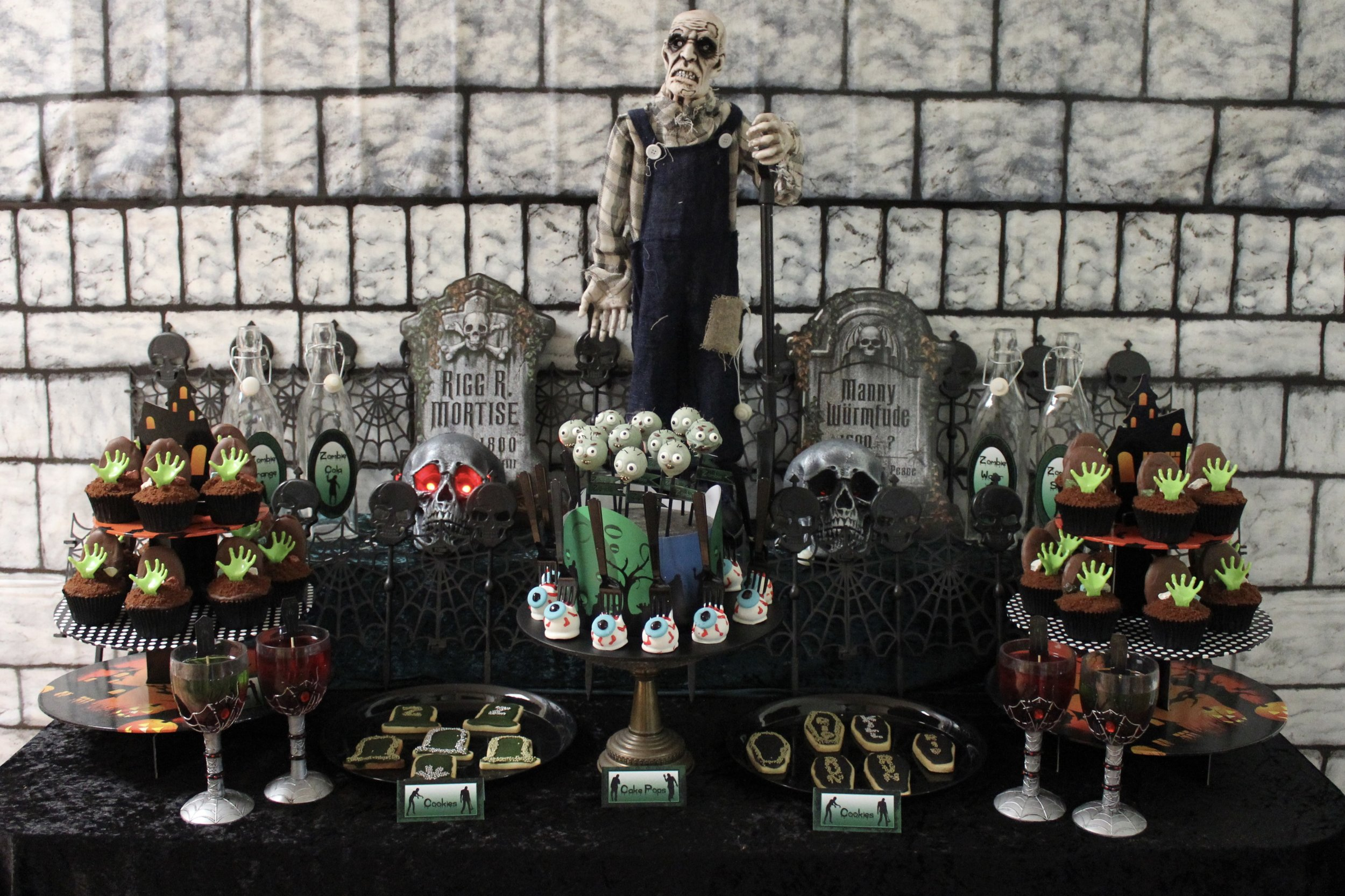 Zombie Party Dessert Table