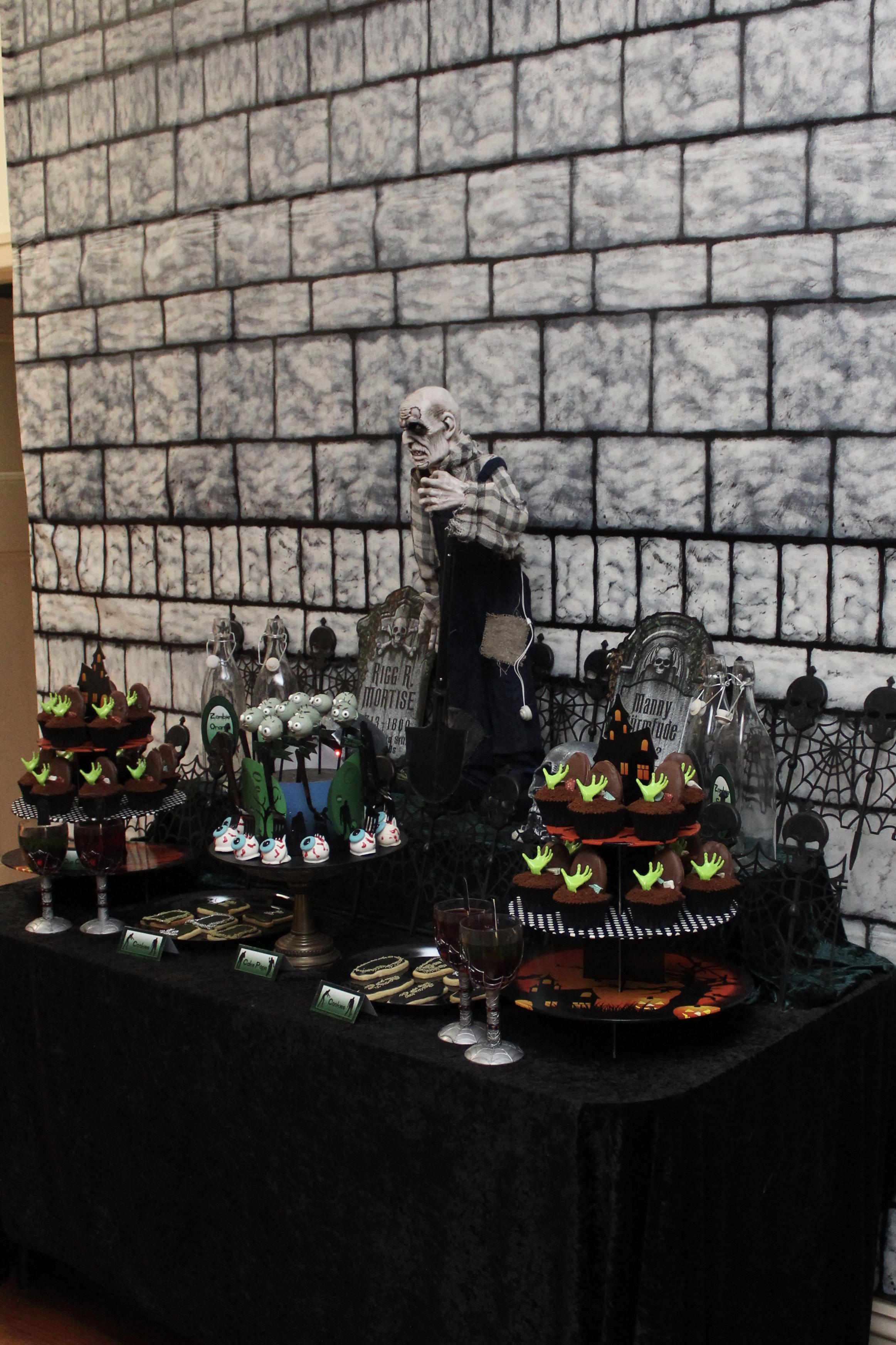 Zombie Dessert Table