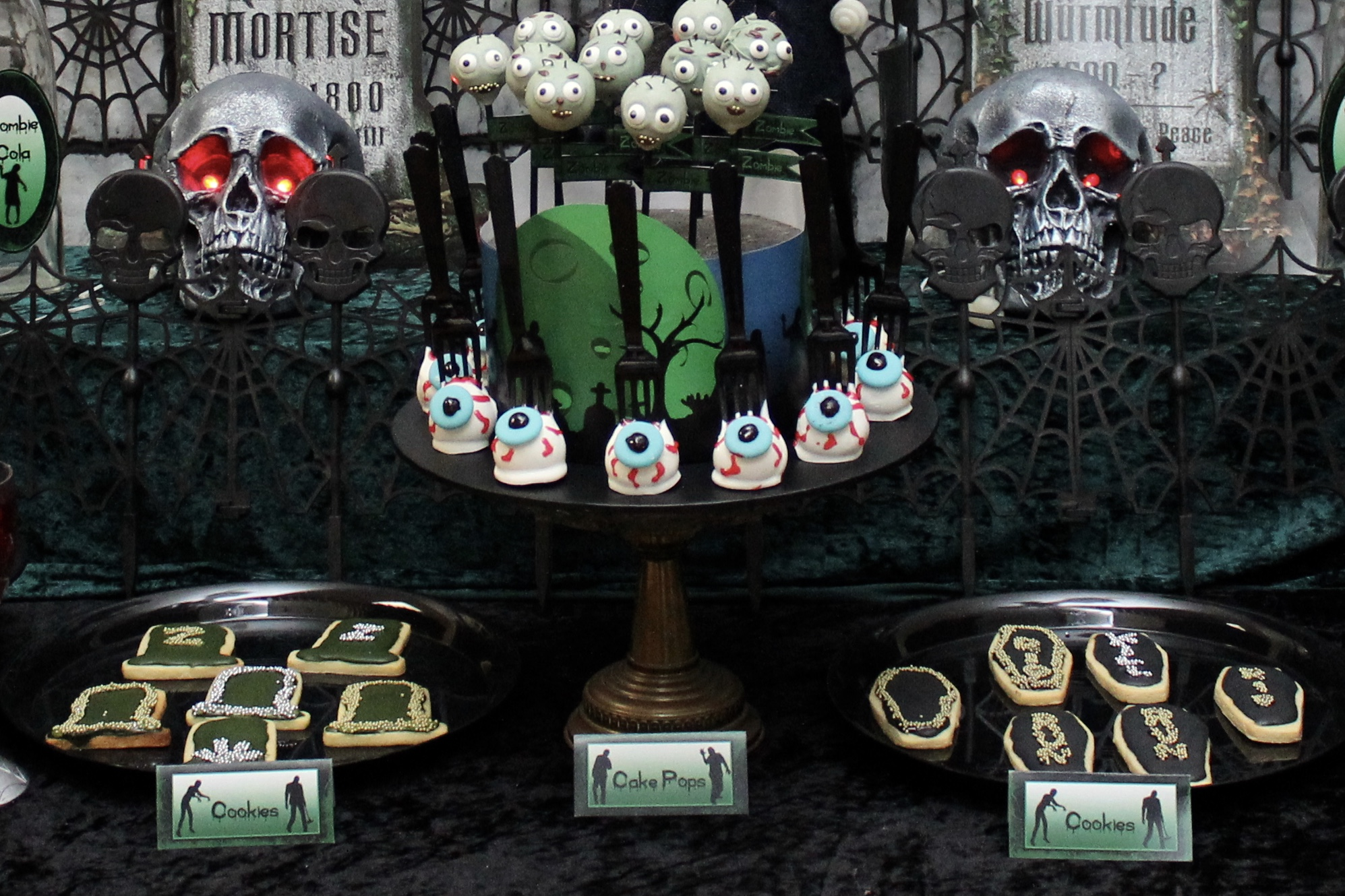 graveyard and coffin cookies
