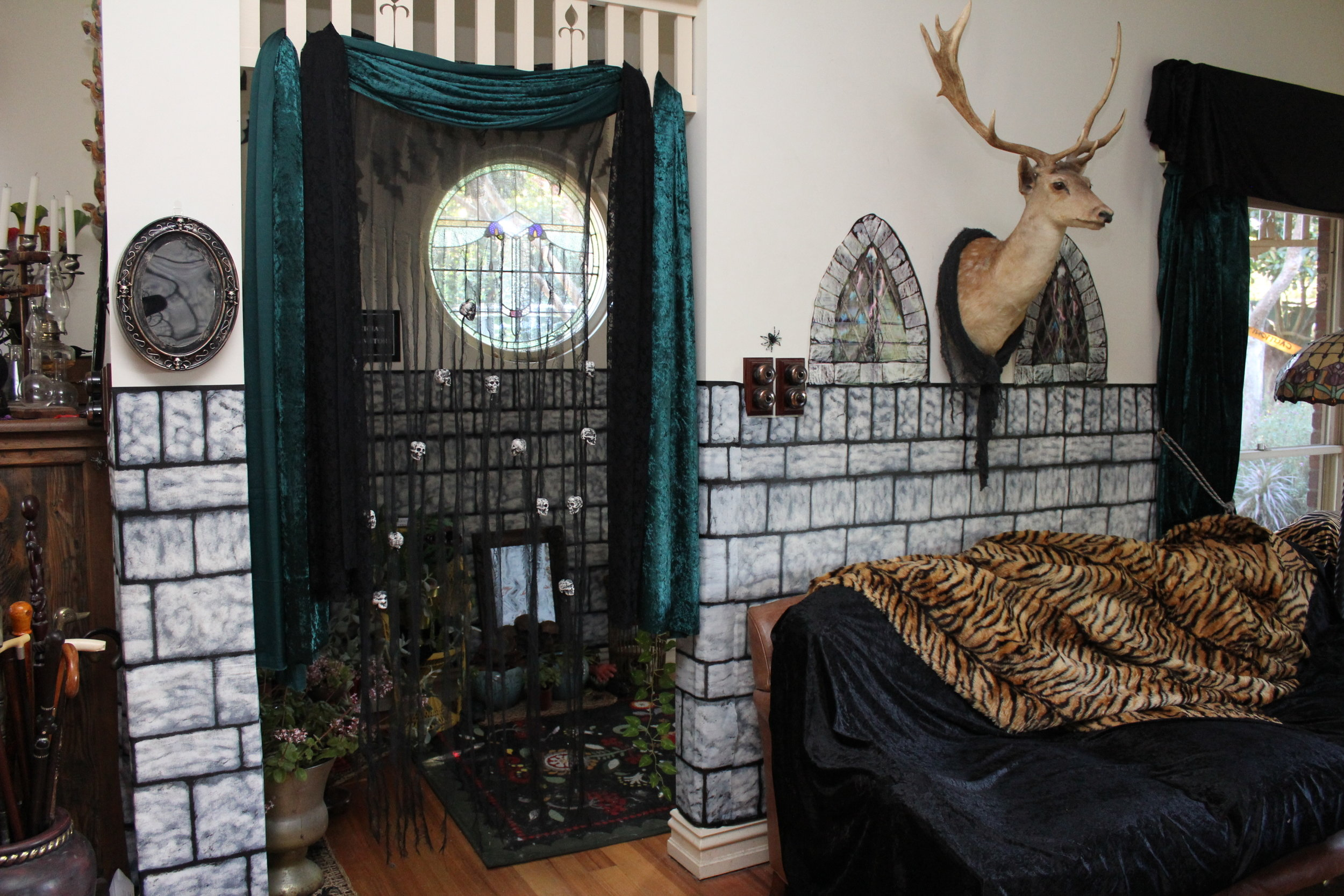 The Addams Family Decorating Ideas, Use Stone and Velvet to transform a room