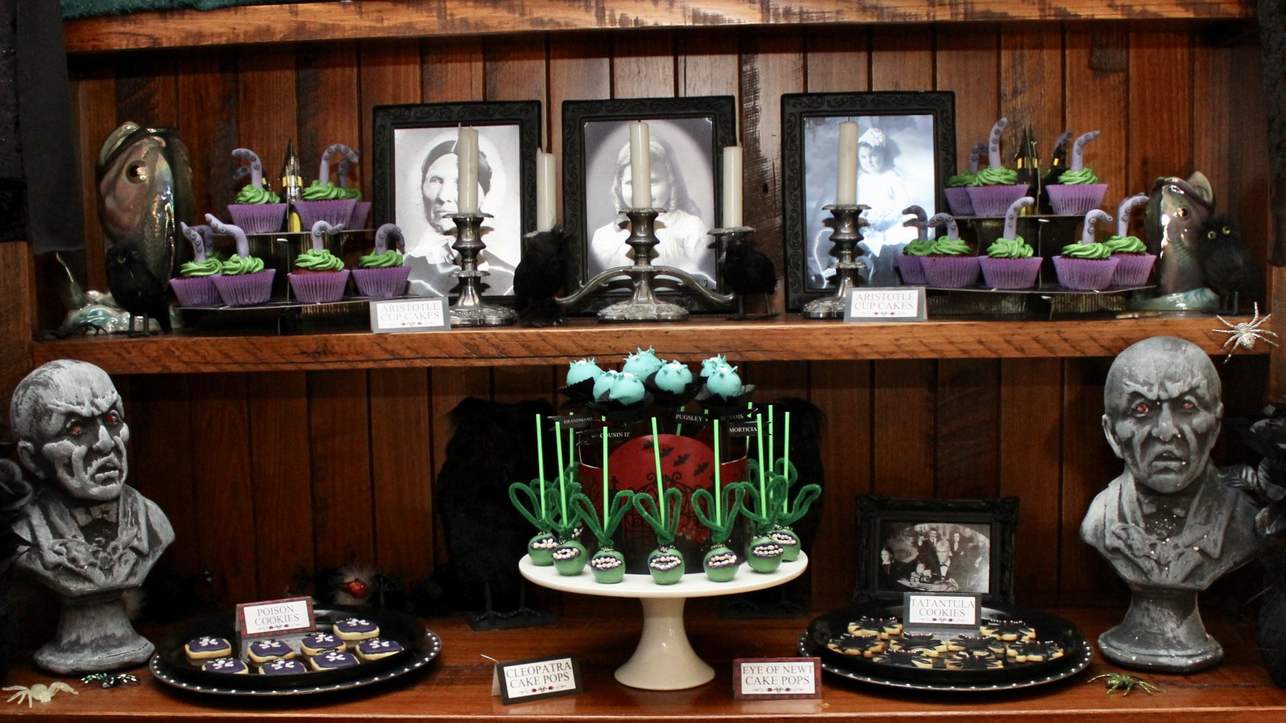 The Addams Family Dessert Table