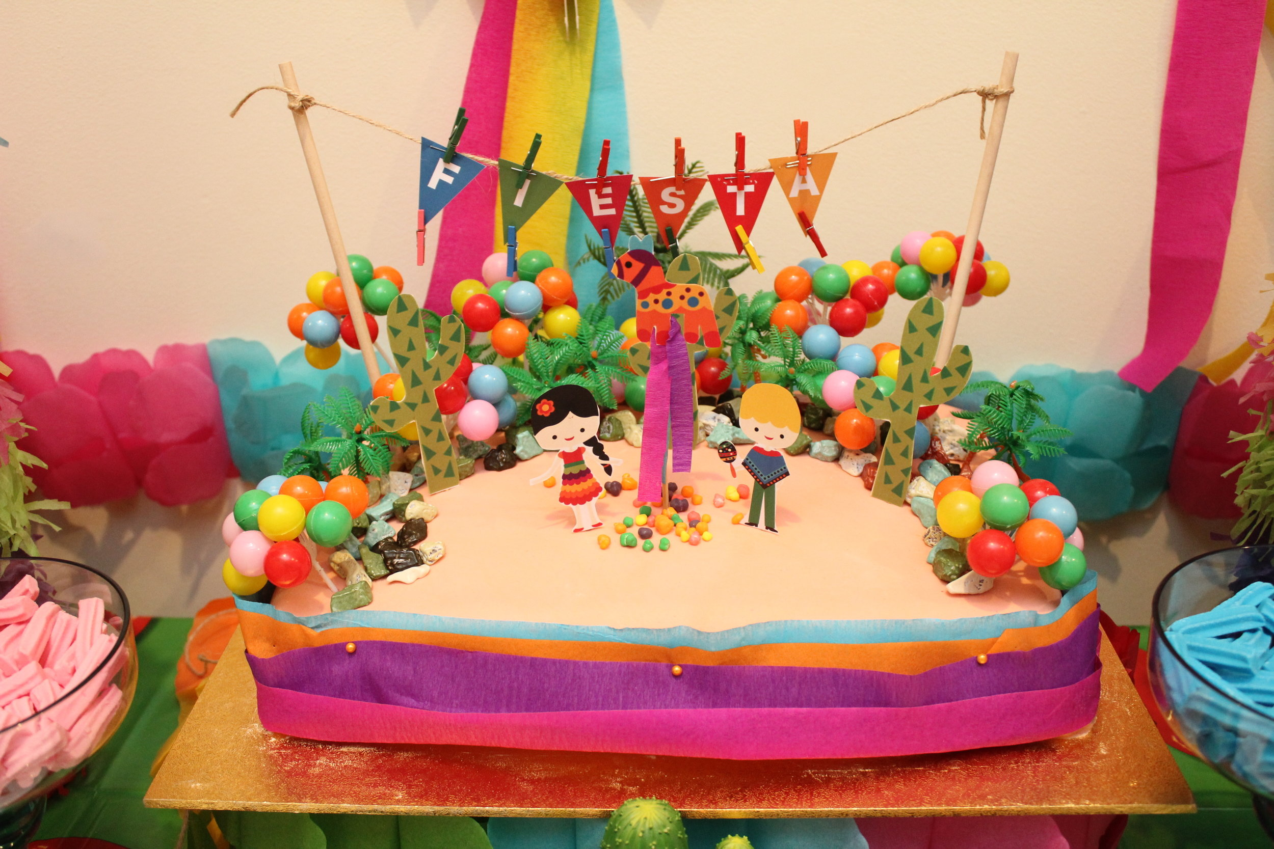 Mexican Party Birthday Cake