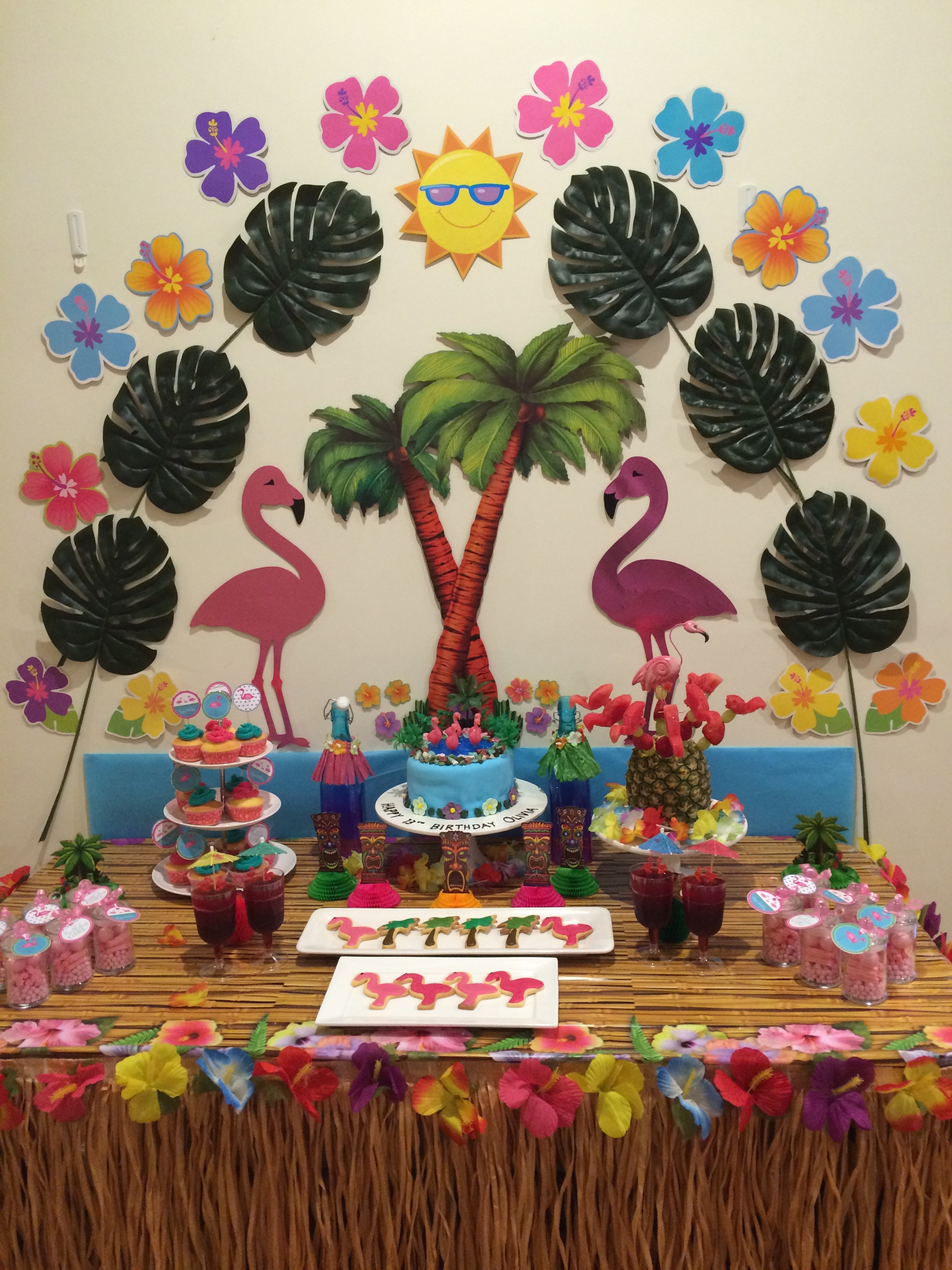 Flamingo Party Dessert Table