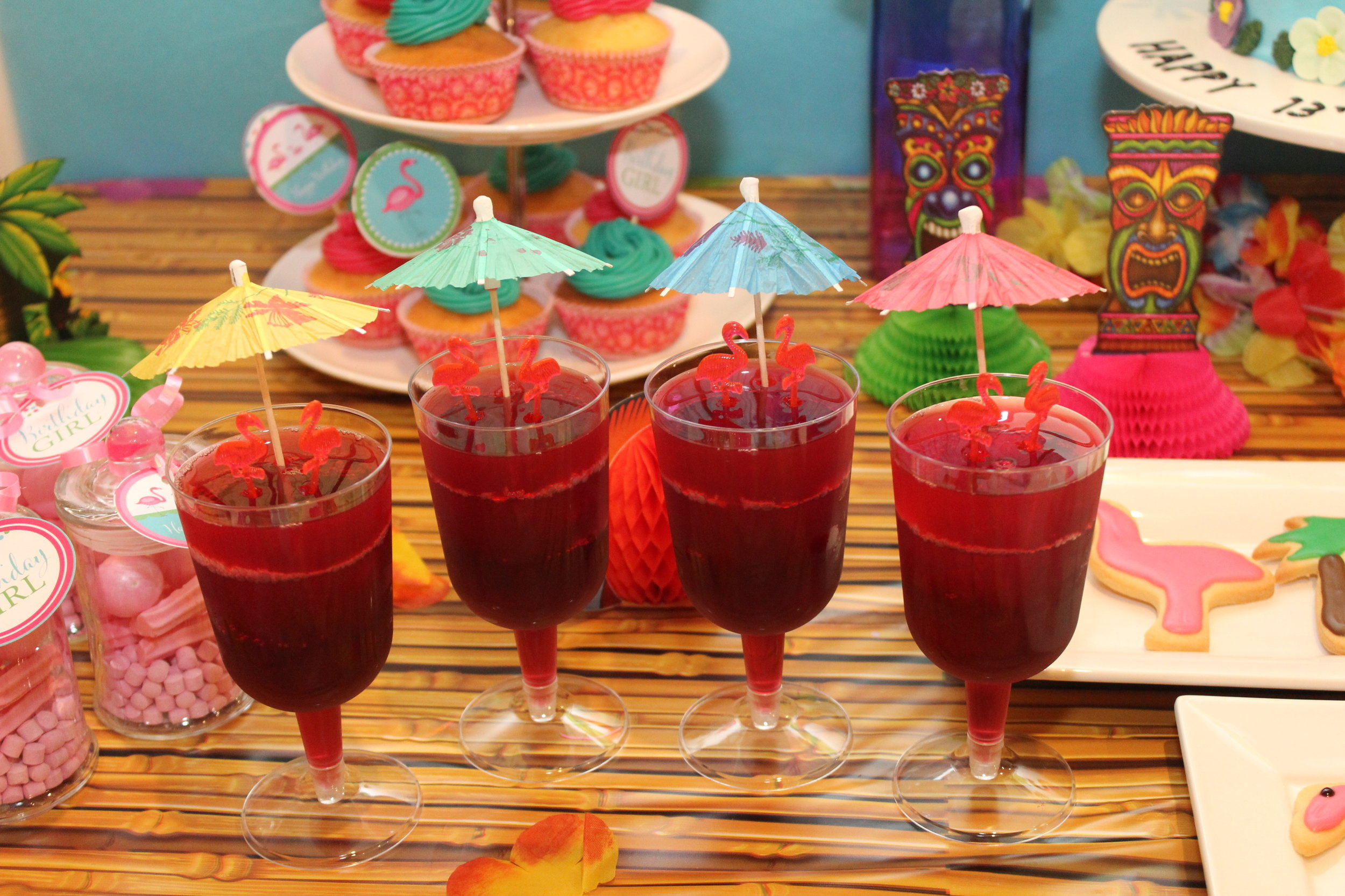 Flamingo Jelly cups